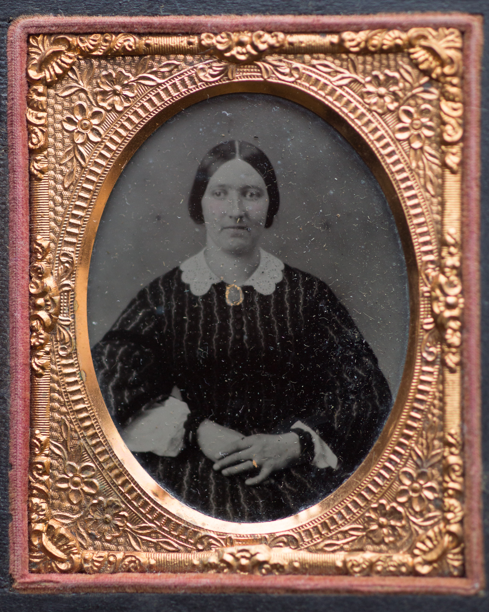 """Same ambrotype from above, still in it's """"Union Case"""""""