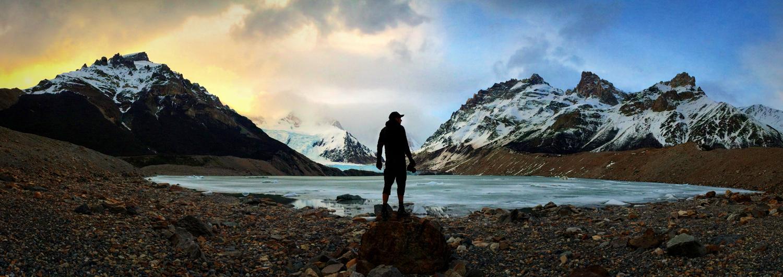 Laguna Torres near El Chalten in Argentina, Patagonia. 2013.