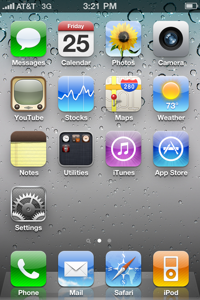 Screenshot the day I got my iPhone 4.