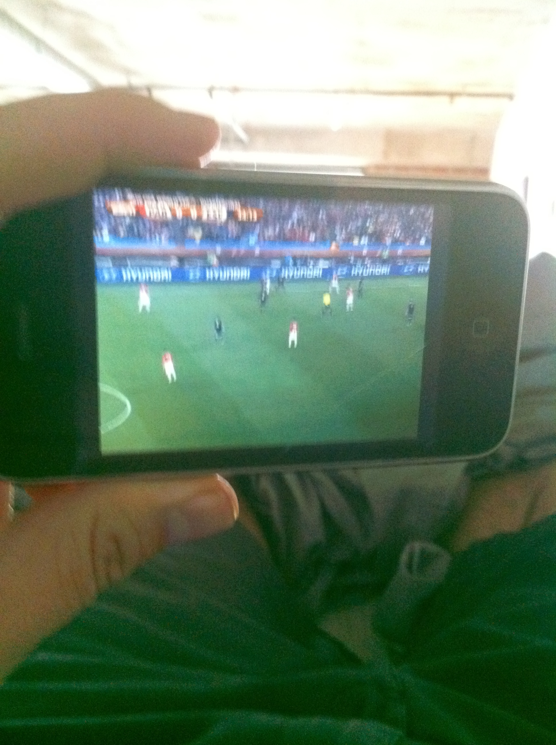 Right after I figured out how to watch the World Cup Qualifier on my iPhone.