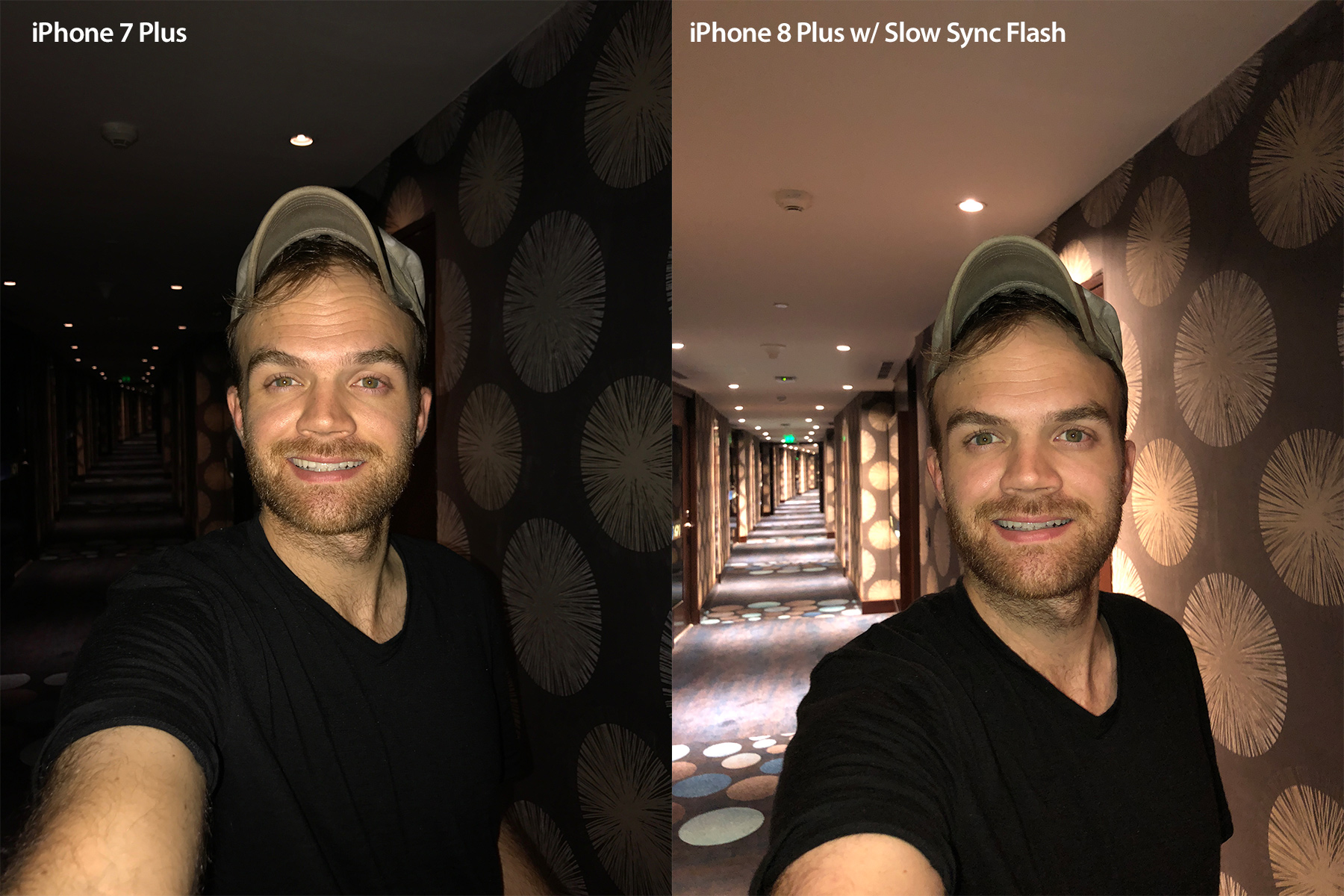 As you can see, the Slow Sync function lets a lot more ambient light in, giving the viewer a much stronger sense of place in the image. Note:These were shot with the rear camera, not the selfie camera.