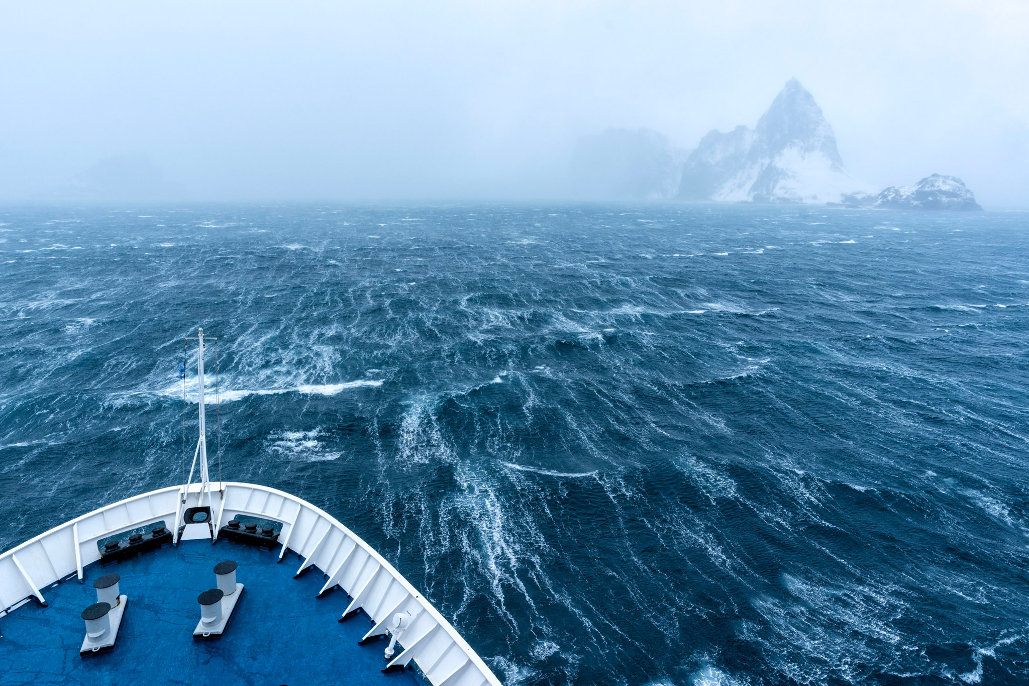 Our first sighting of Antarctica at Elephant Island amidst intense 75MPH winds. Shot w/ Sony A9, 16-35 f/2.8.