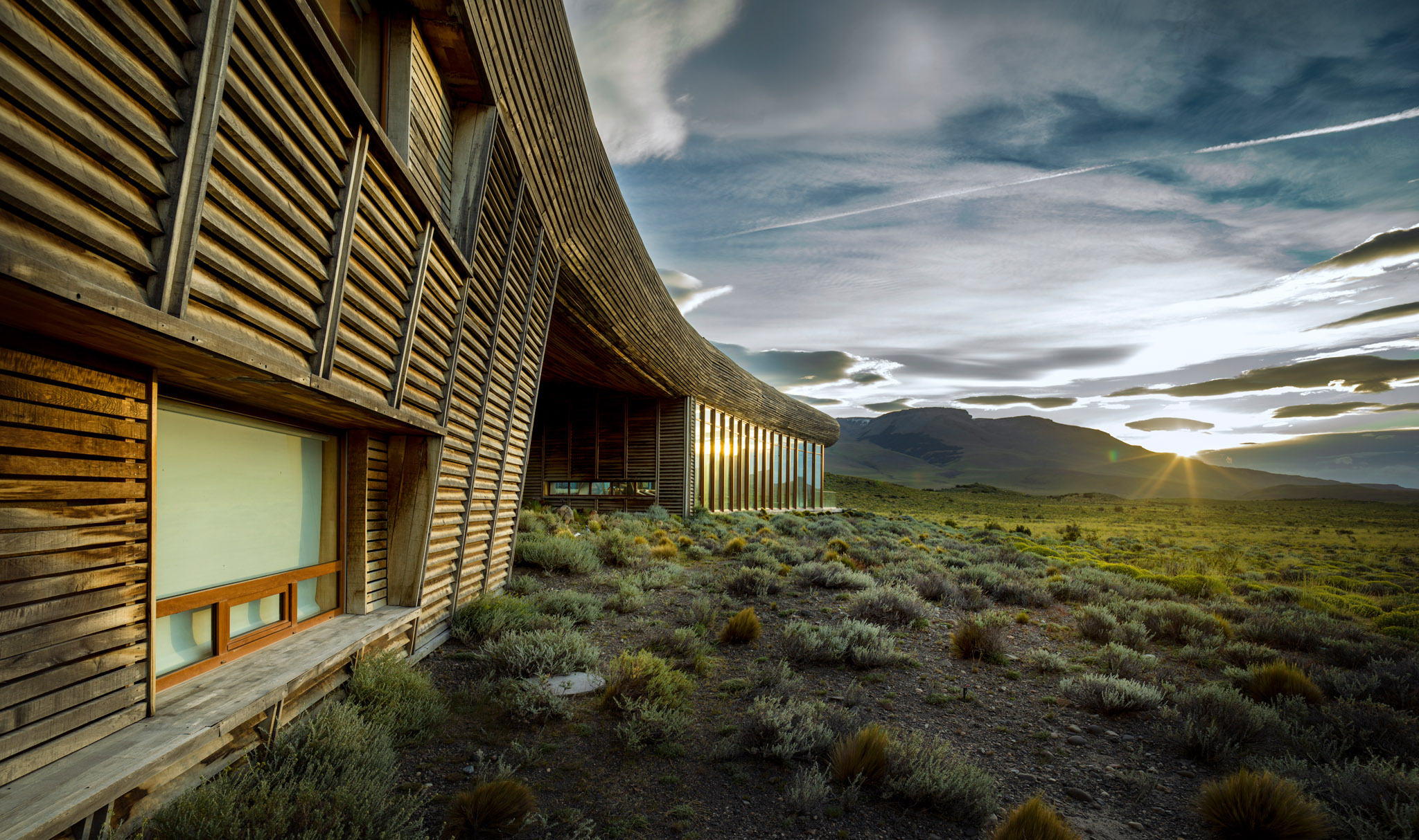We loved the unique architecture at Tierra Patagonia Hotel. Shot on Hasselblad H6D-100c w/ 24mm.