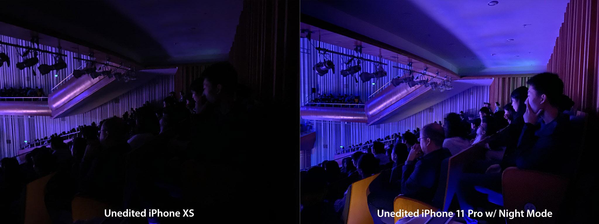 iPhone XS vs iPhone 11 Pro w/ Night mode, handheld. Xi'an, China.