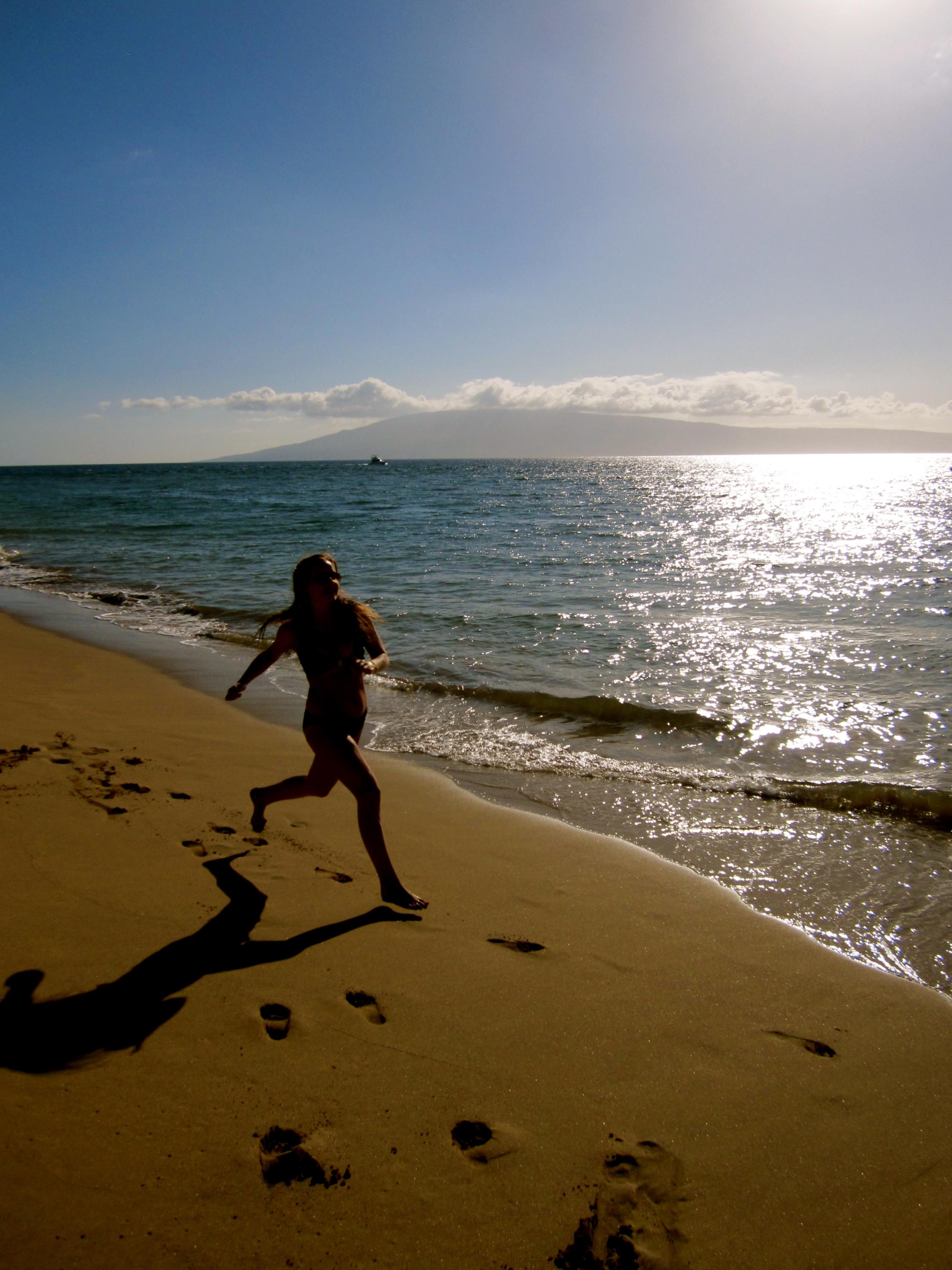 Barefoot Running       Maui, Hawaii