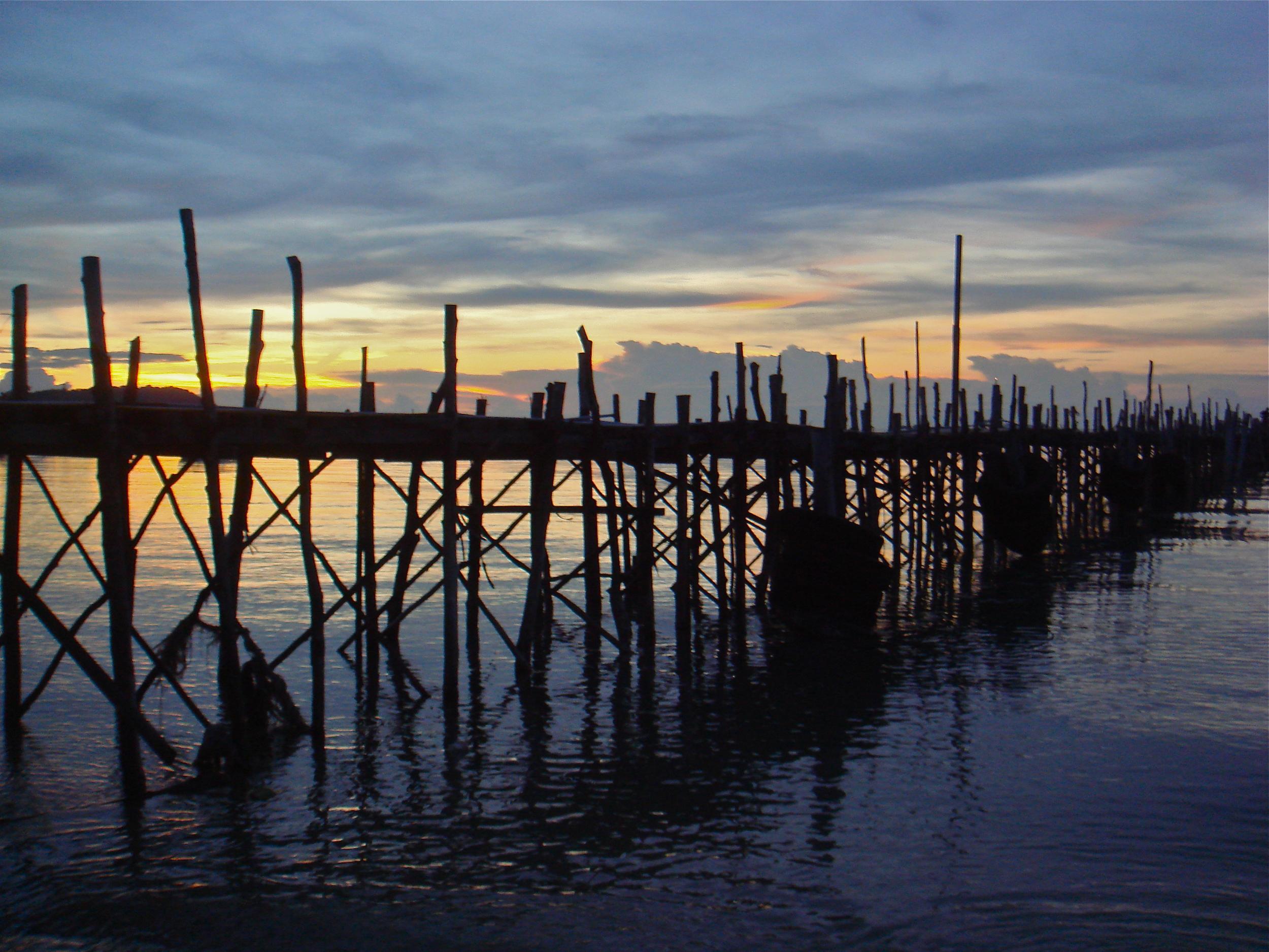 Thai Dock at Sunset        Koh Samui, Thailand