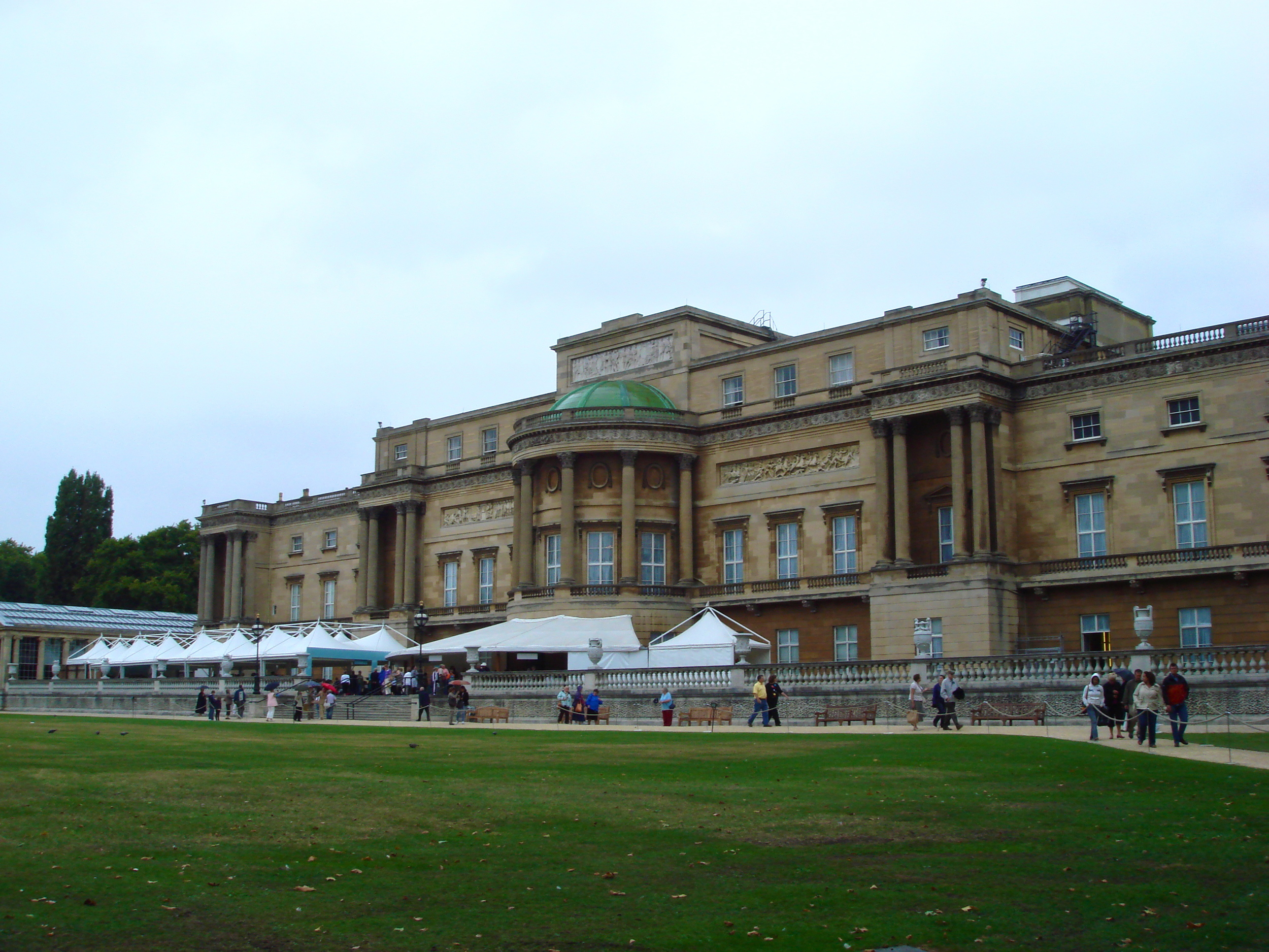 Buckingham Palace from the back