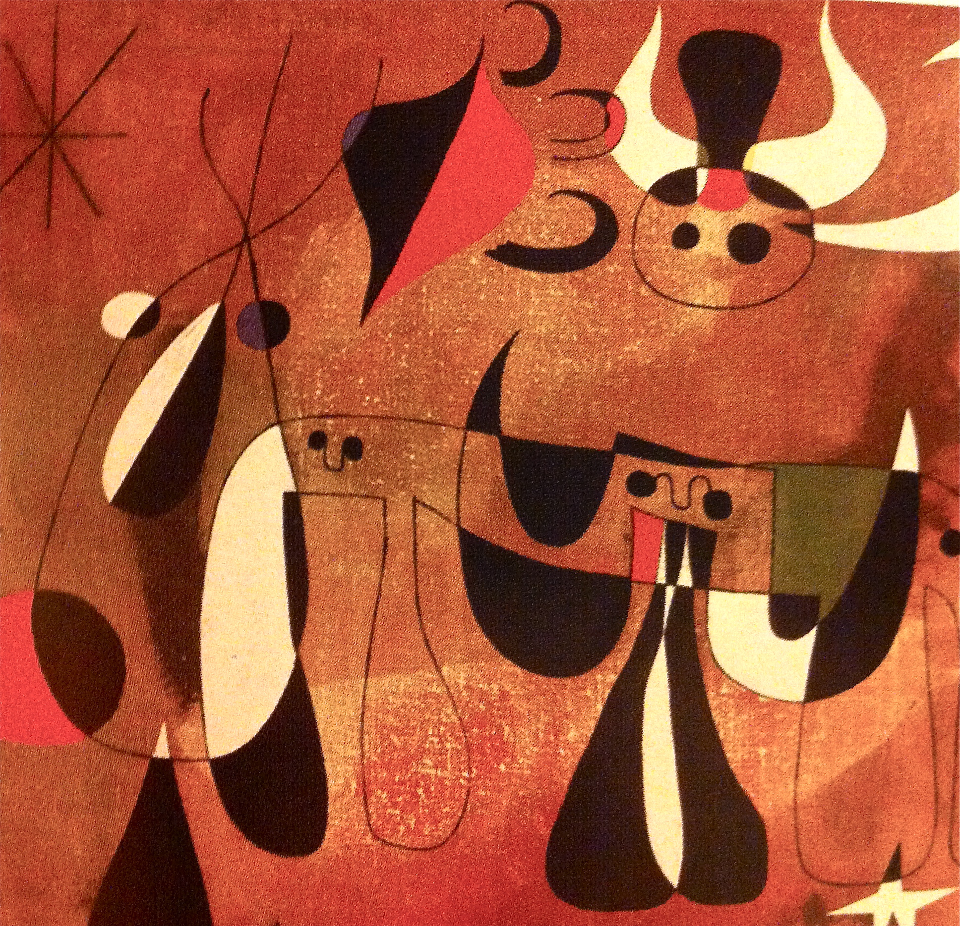 Personages in the Night (detail), 1950   Joan Miro, Spain