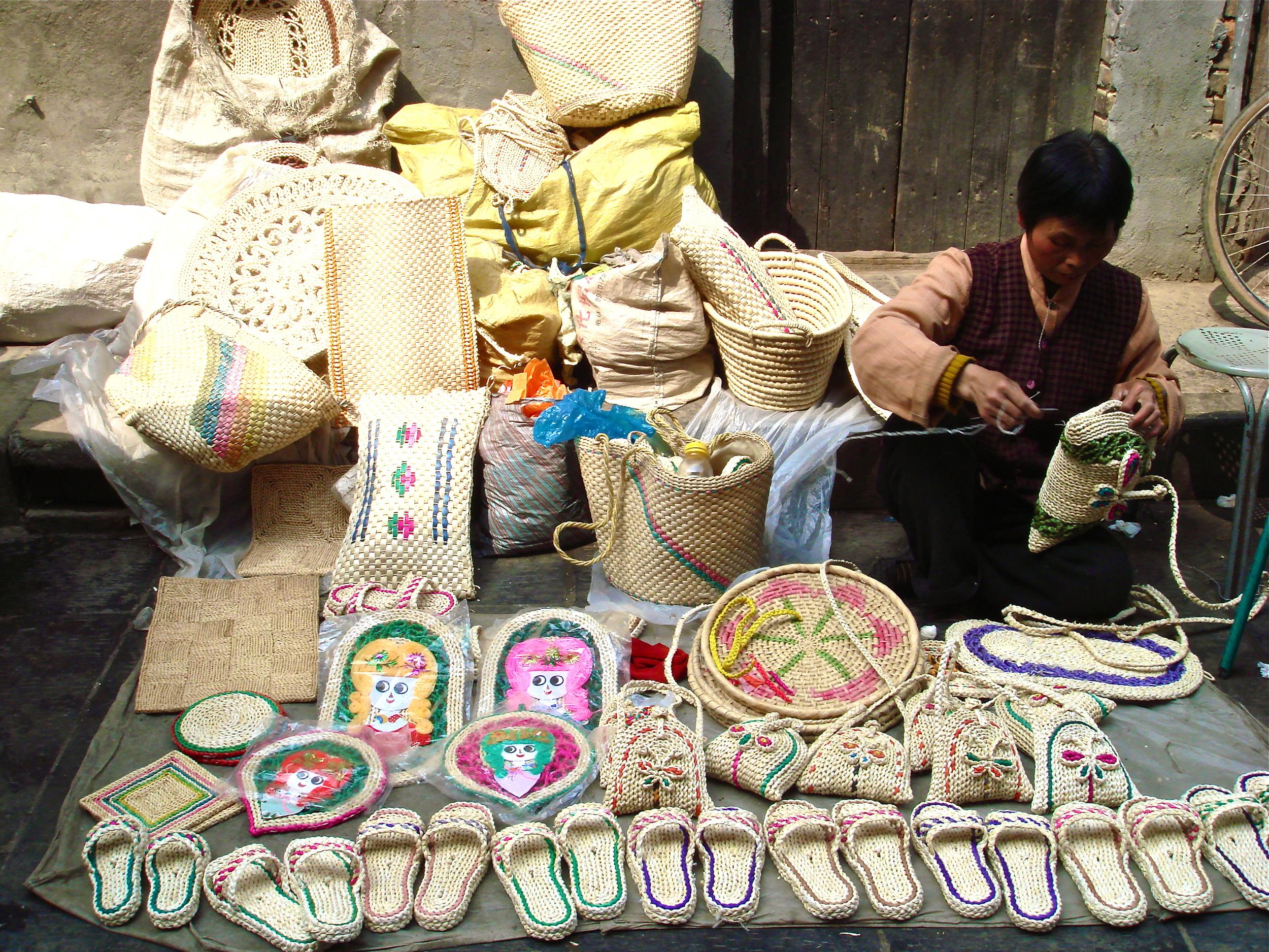 The Basket Weaver      Xian, China