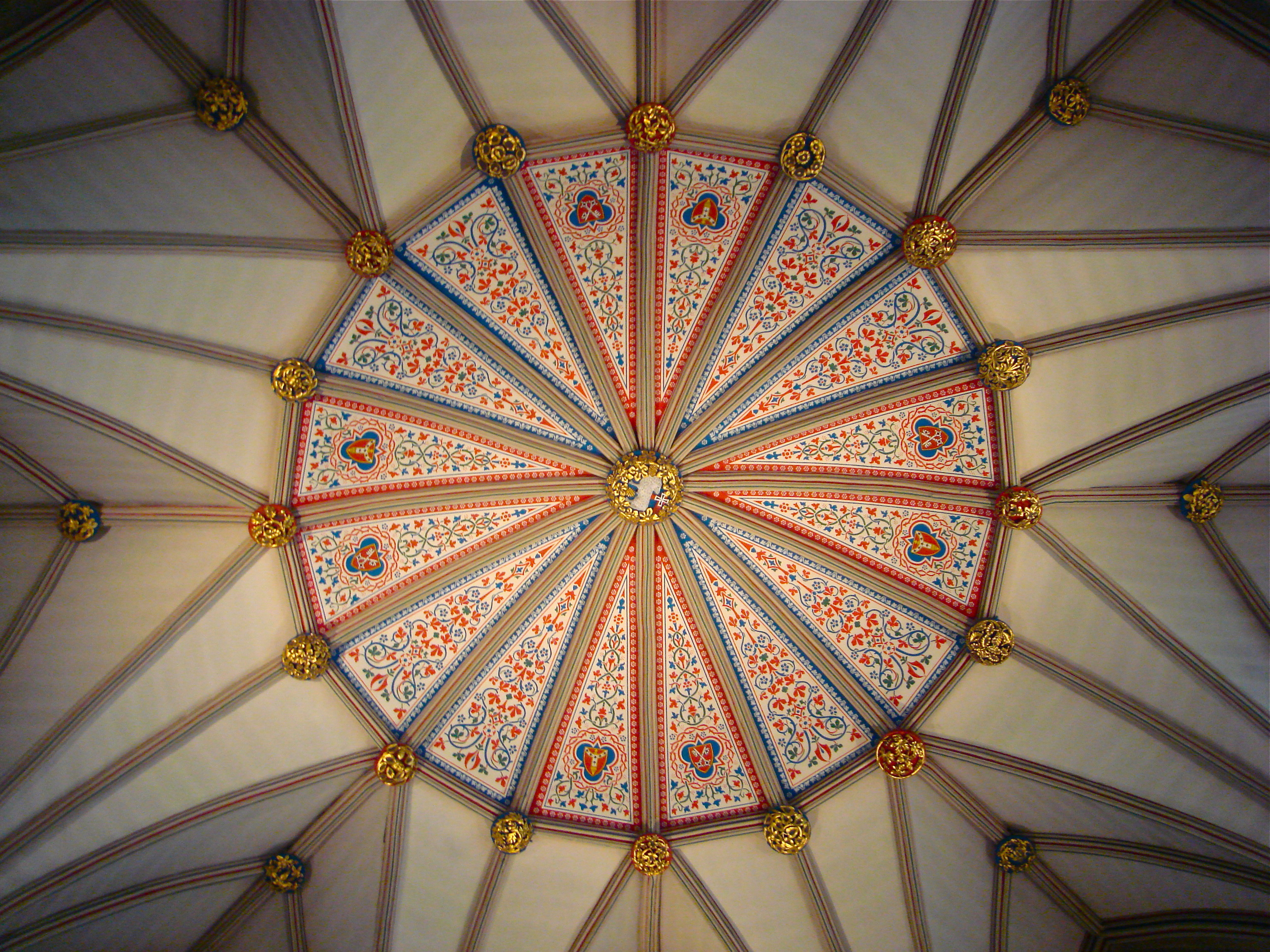 Detail of the Minster ceiling       York, UK