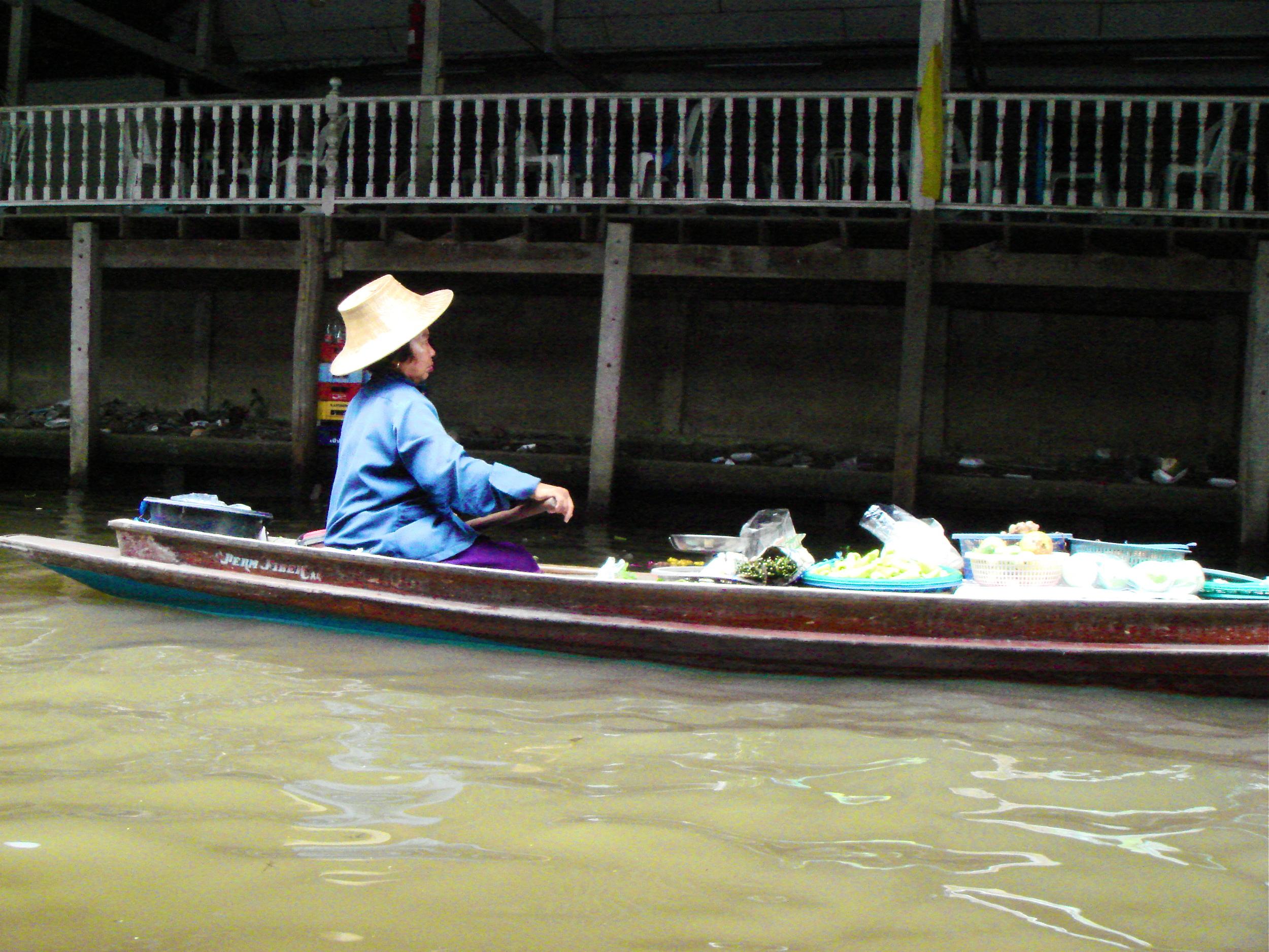 Just Beyond the Floating Market Near Bangkok, Thailand