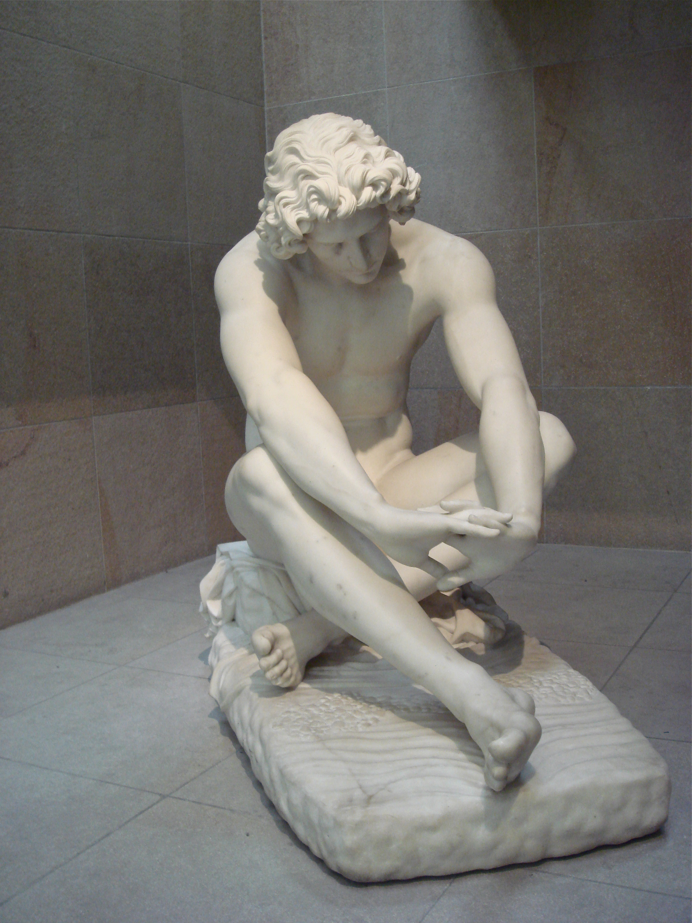 Statue in the Musee d'Orsay in Paris, France
