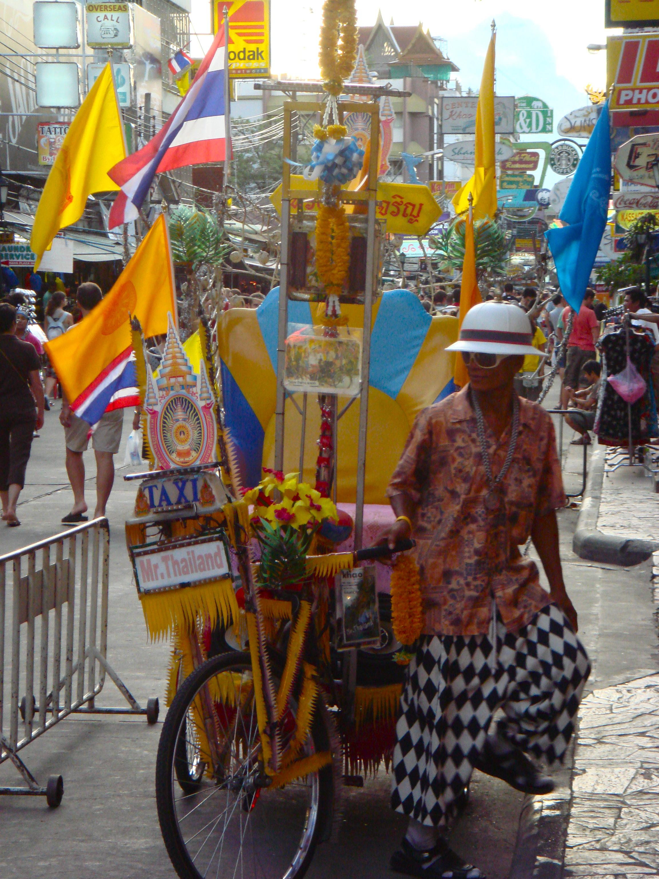 A 'colourful' taxi in Bangkok, Thailand