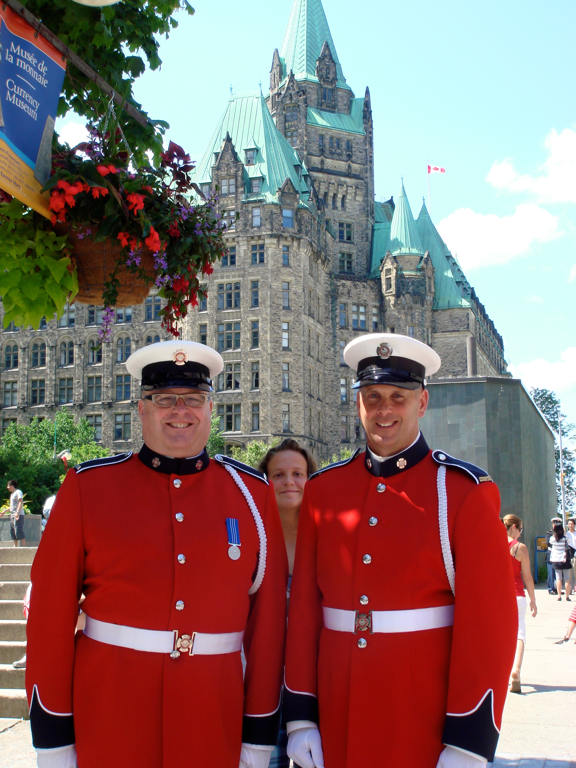 Mounties in Ottawa on Canada Day