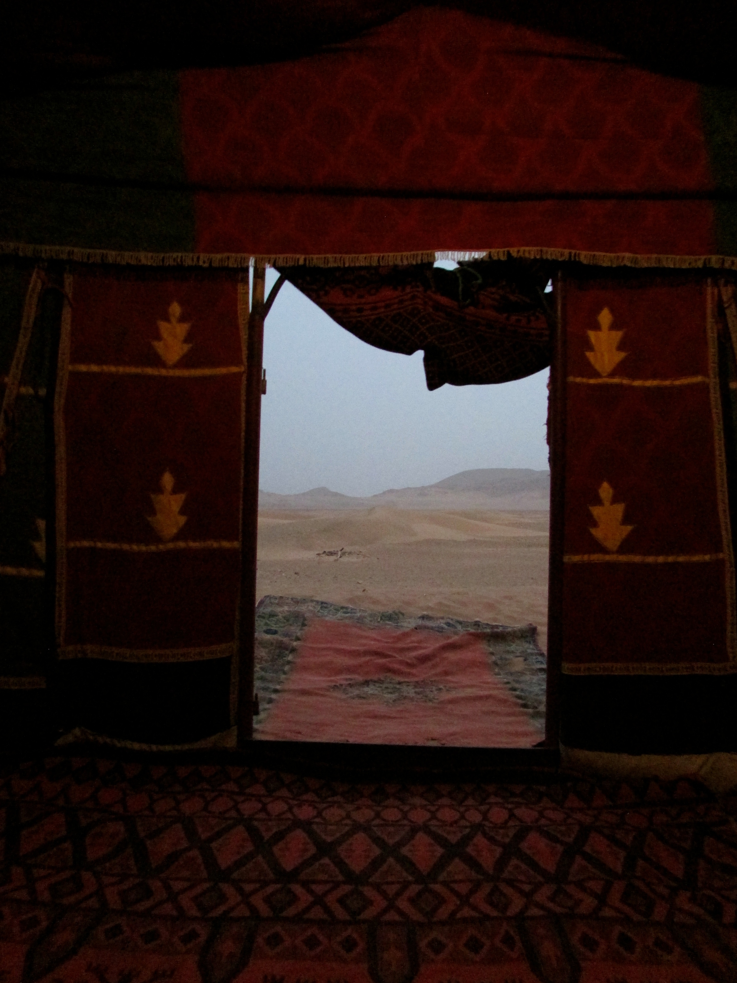 The view from my bed in the Bedouin tent.