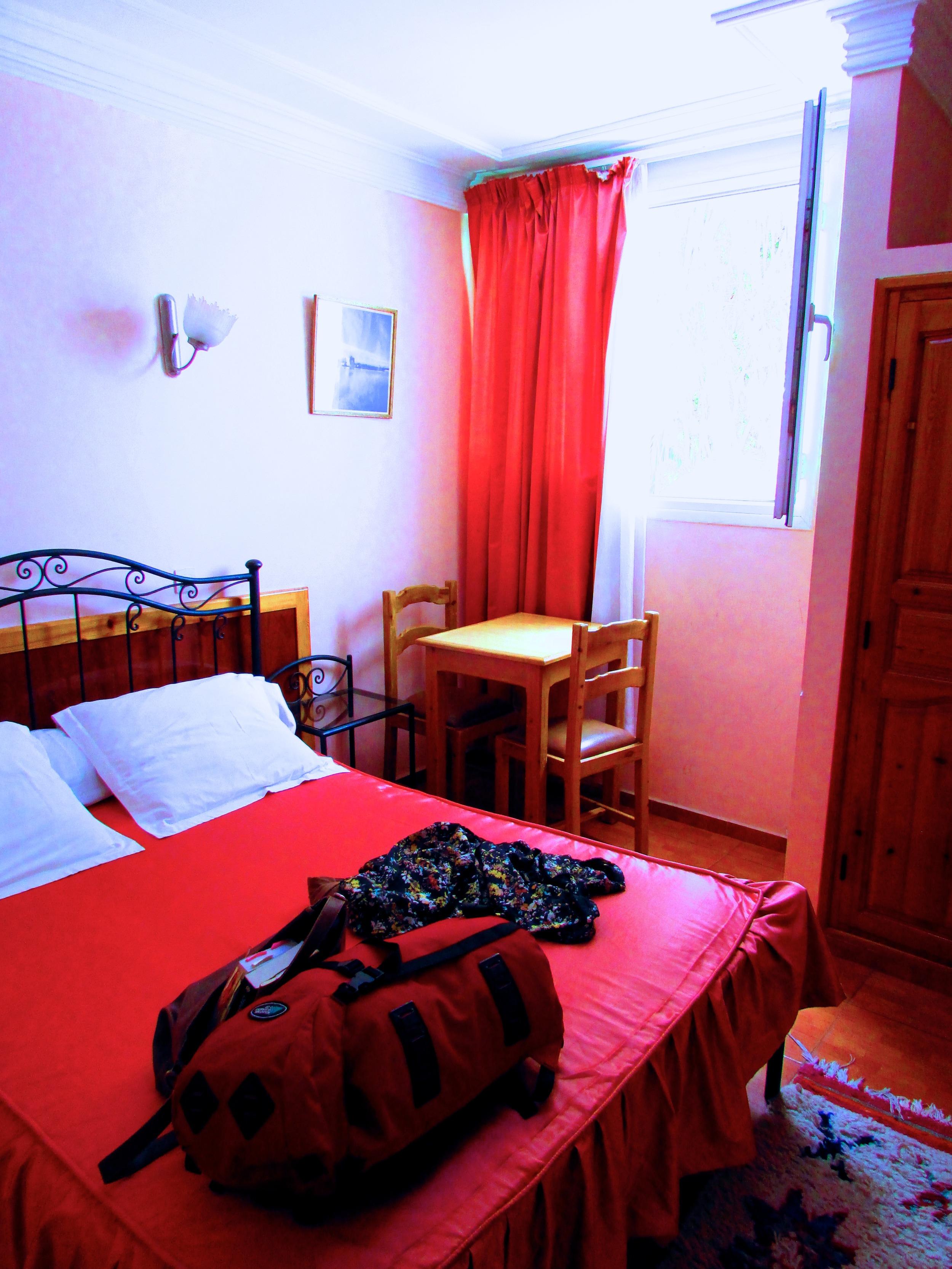 My room at the Hotel La Petite Suede in Agadir, Morocco