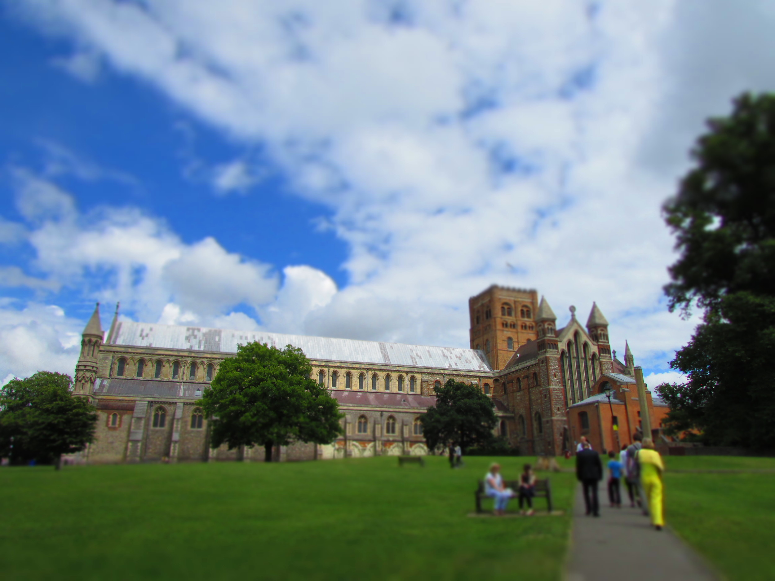 The Cathedral in St Albans, UK