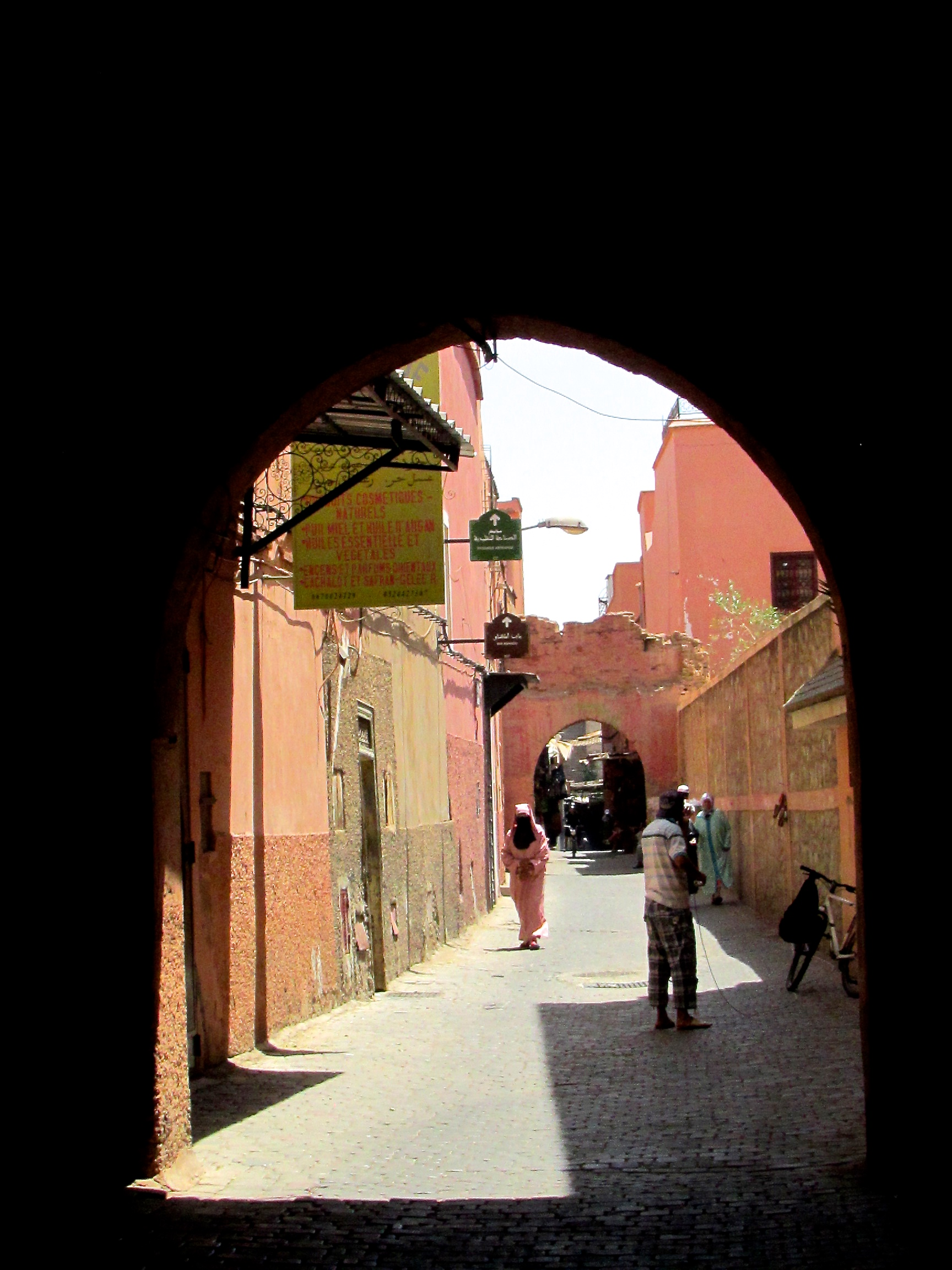 A side street in Marrakesh, Morocco, known to locals as The Red City
