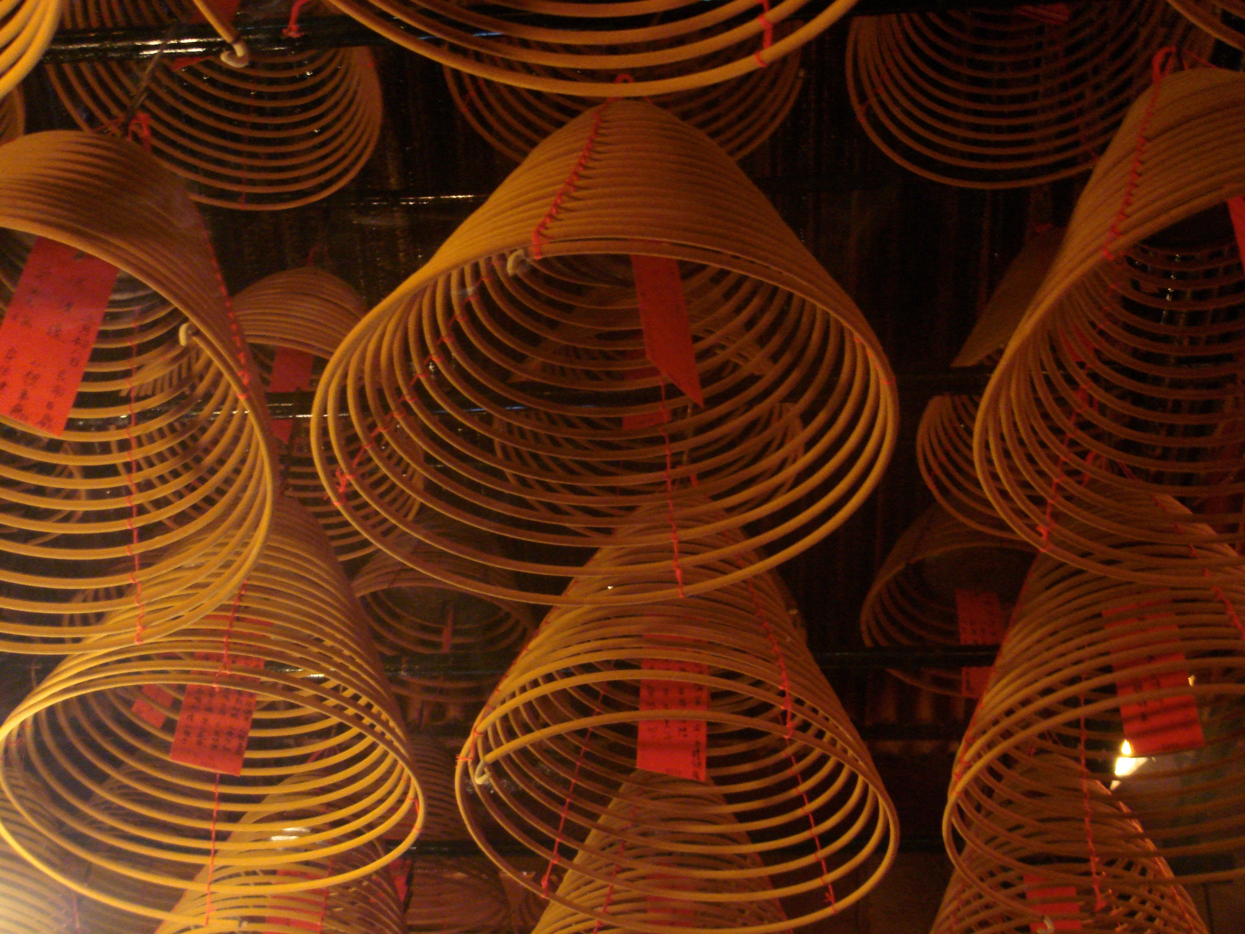 Spiral incense at there Man Mo Temple