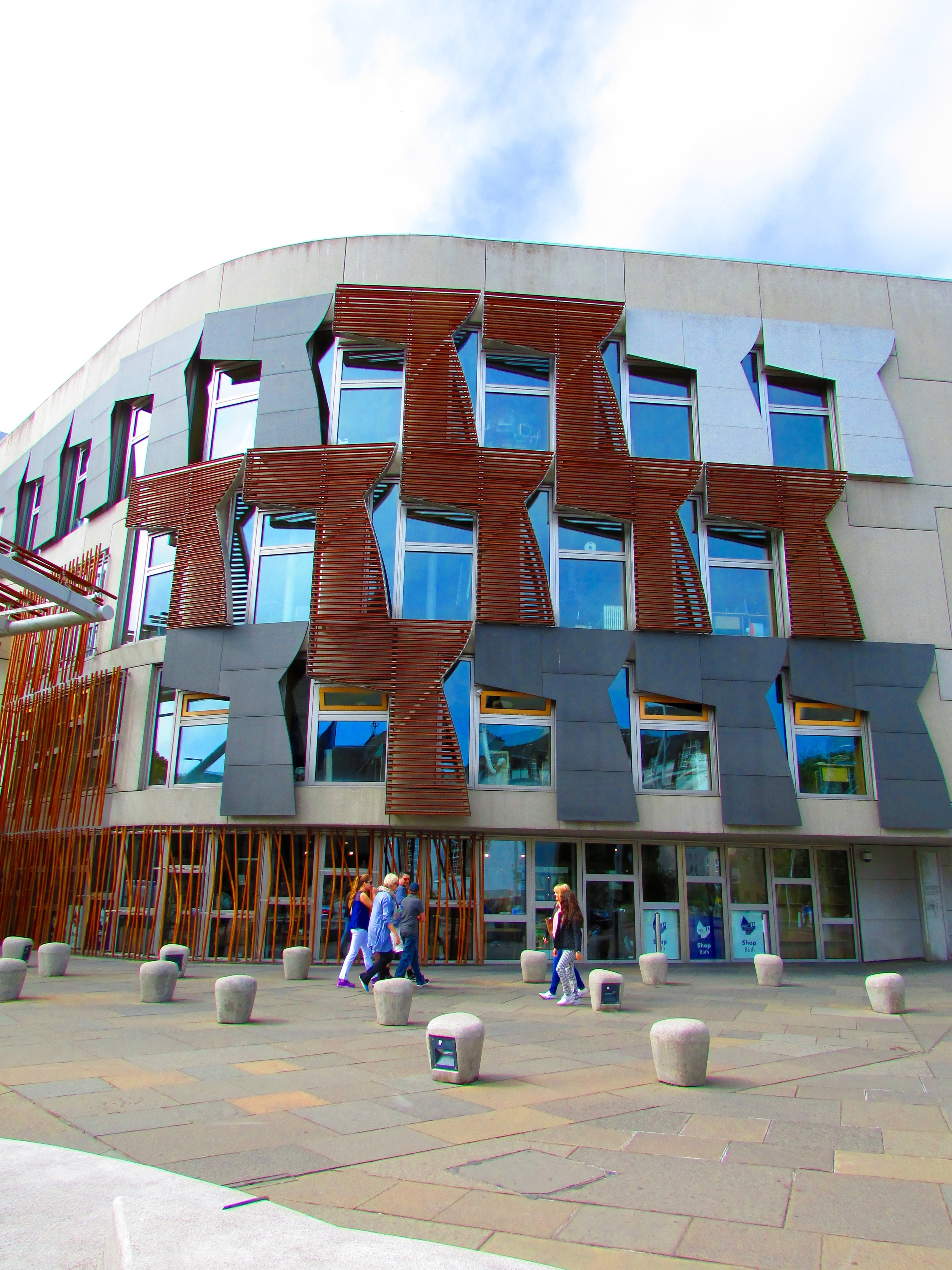 A portion of theScottish Parliament Building