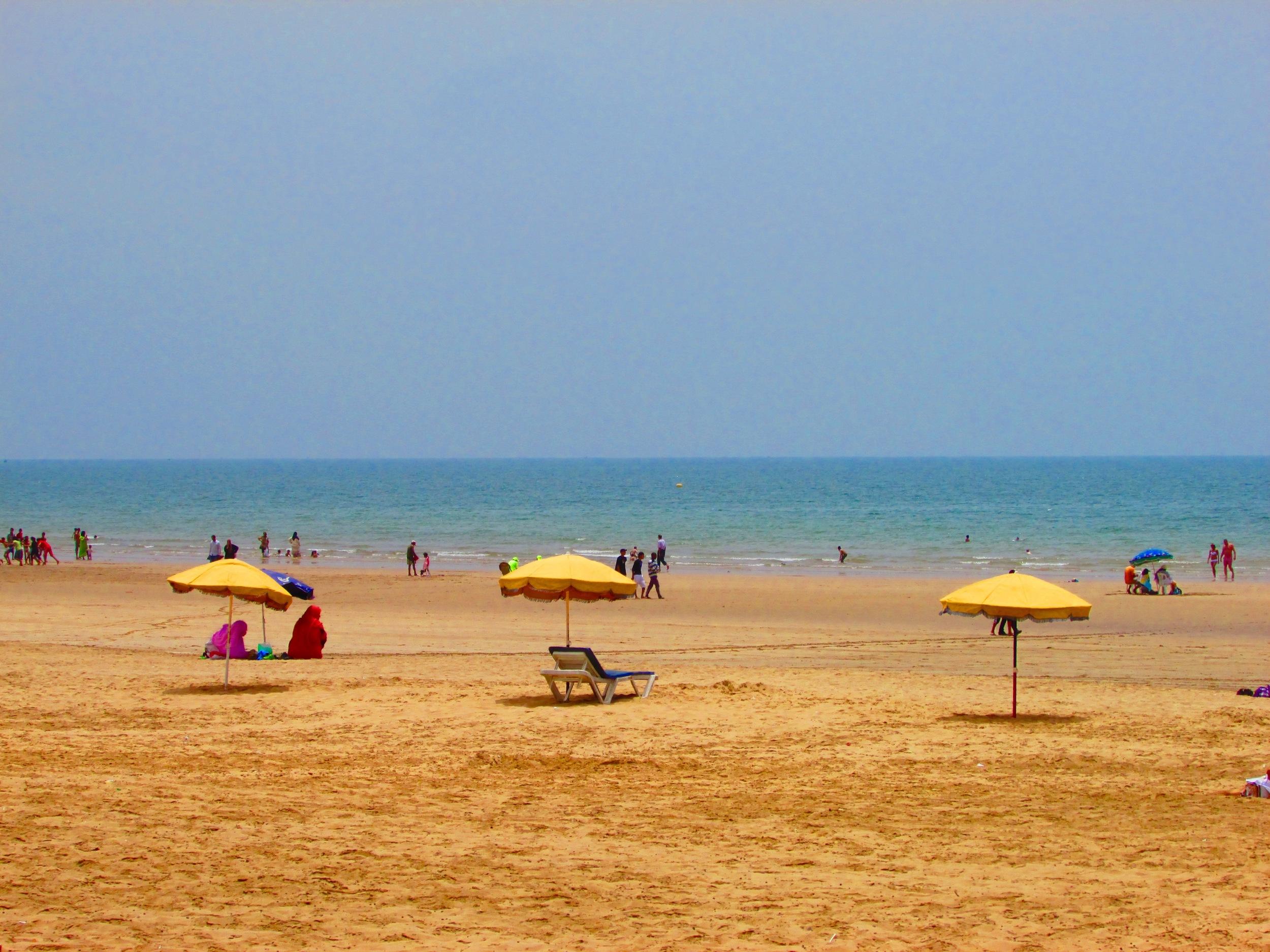 The beach in Agadir, Morocco