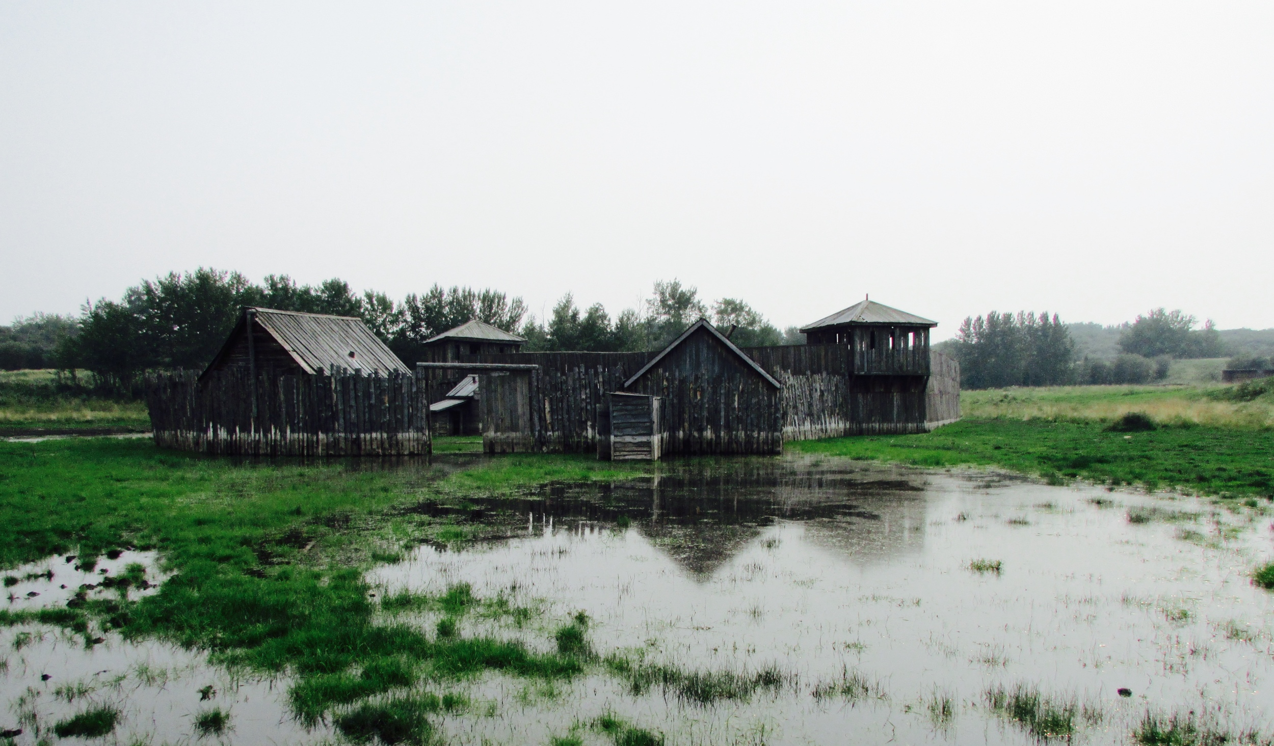A structure on a private ranch in Alberta, Canada