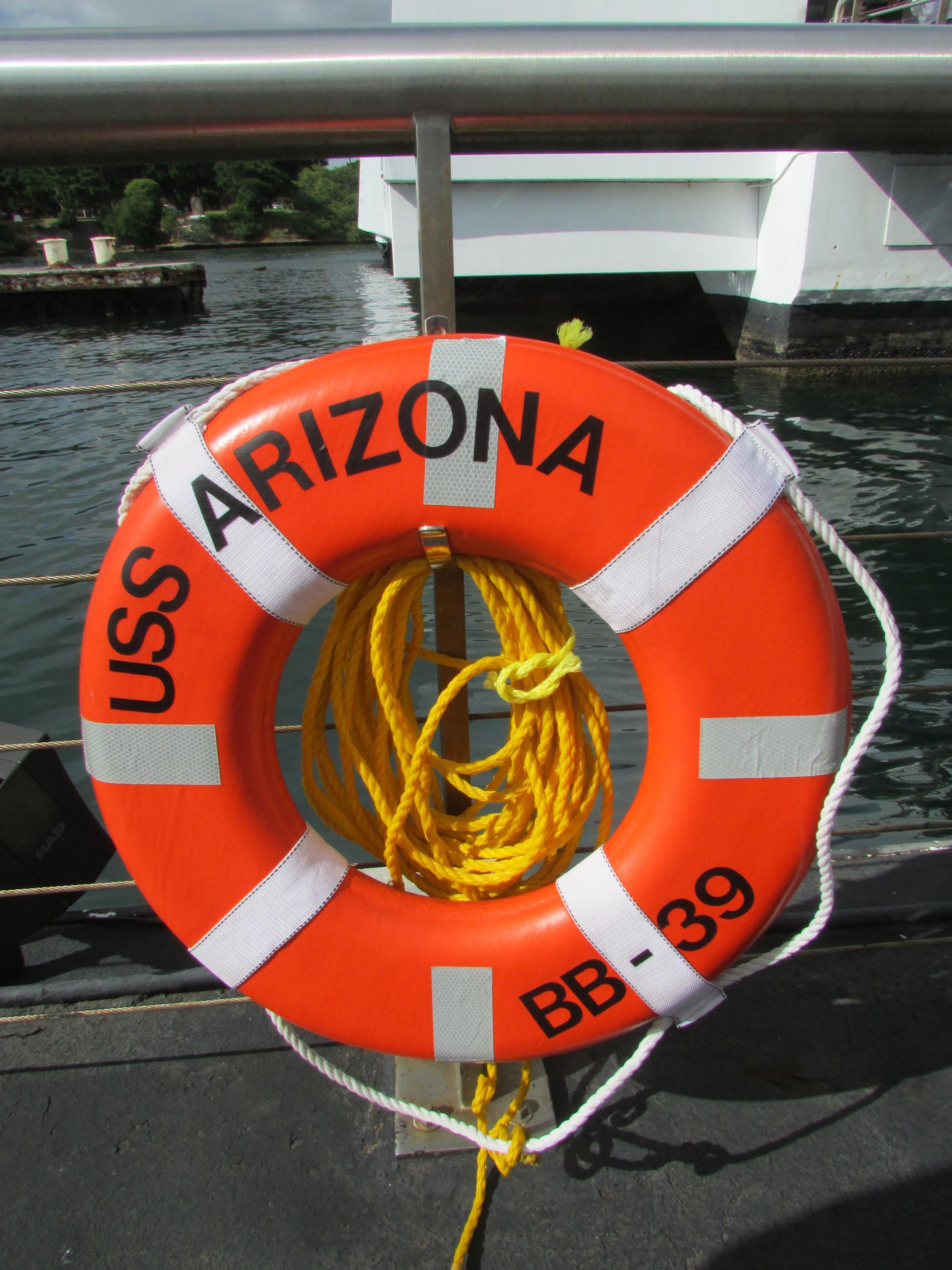 Visiting the USS Arizona in Pearl Harbor
