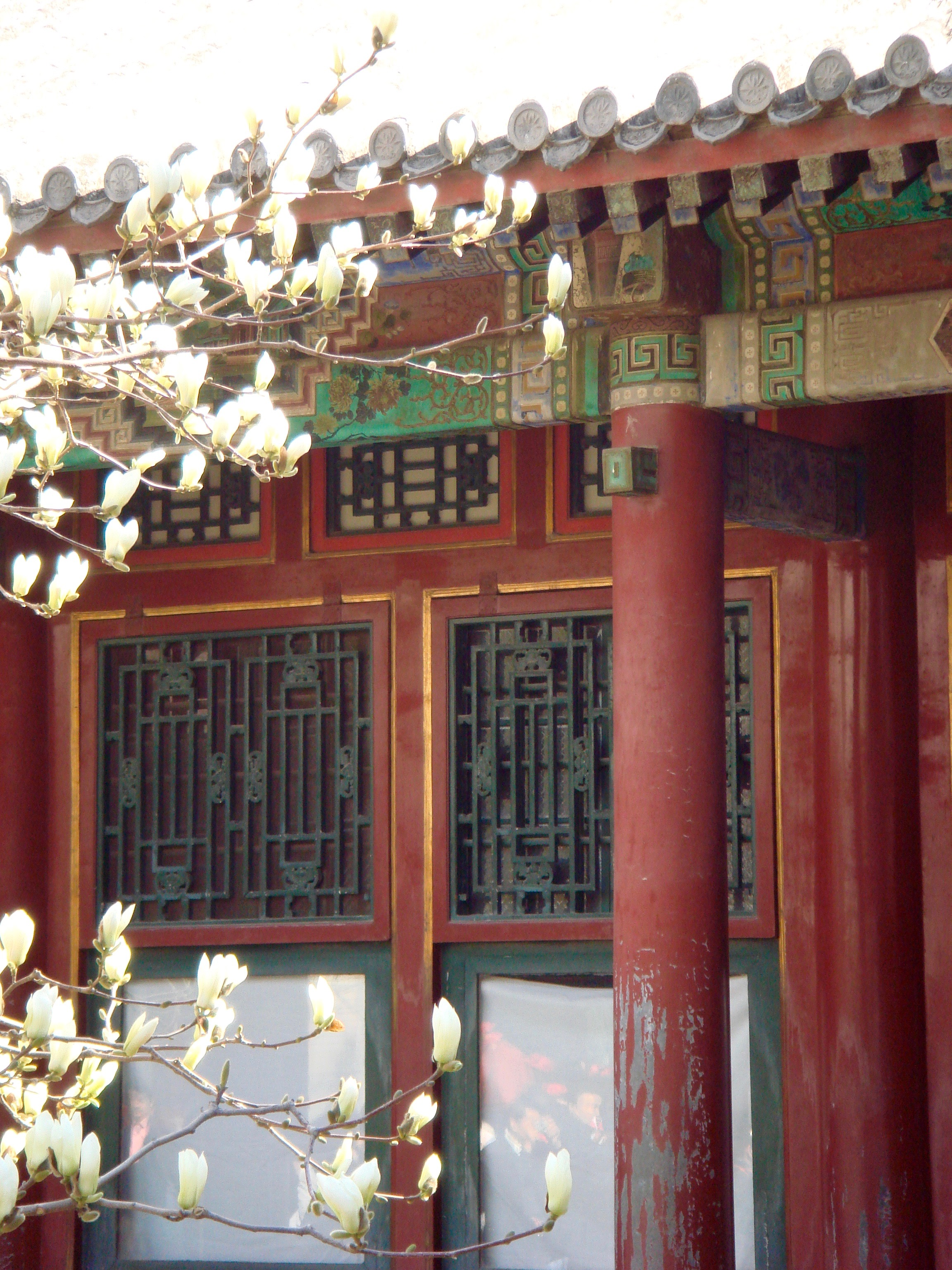 One of the many buildings at The Summer Palace just outside of Beijing, China