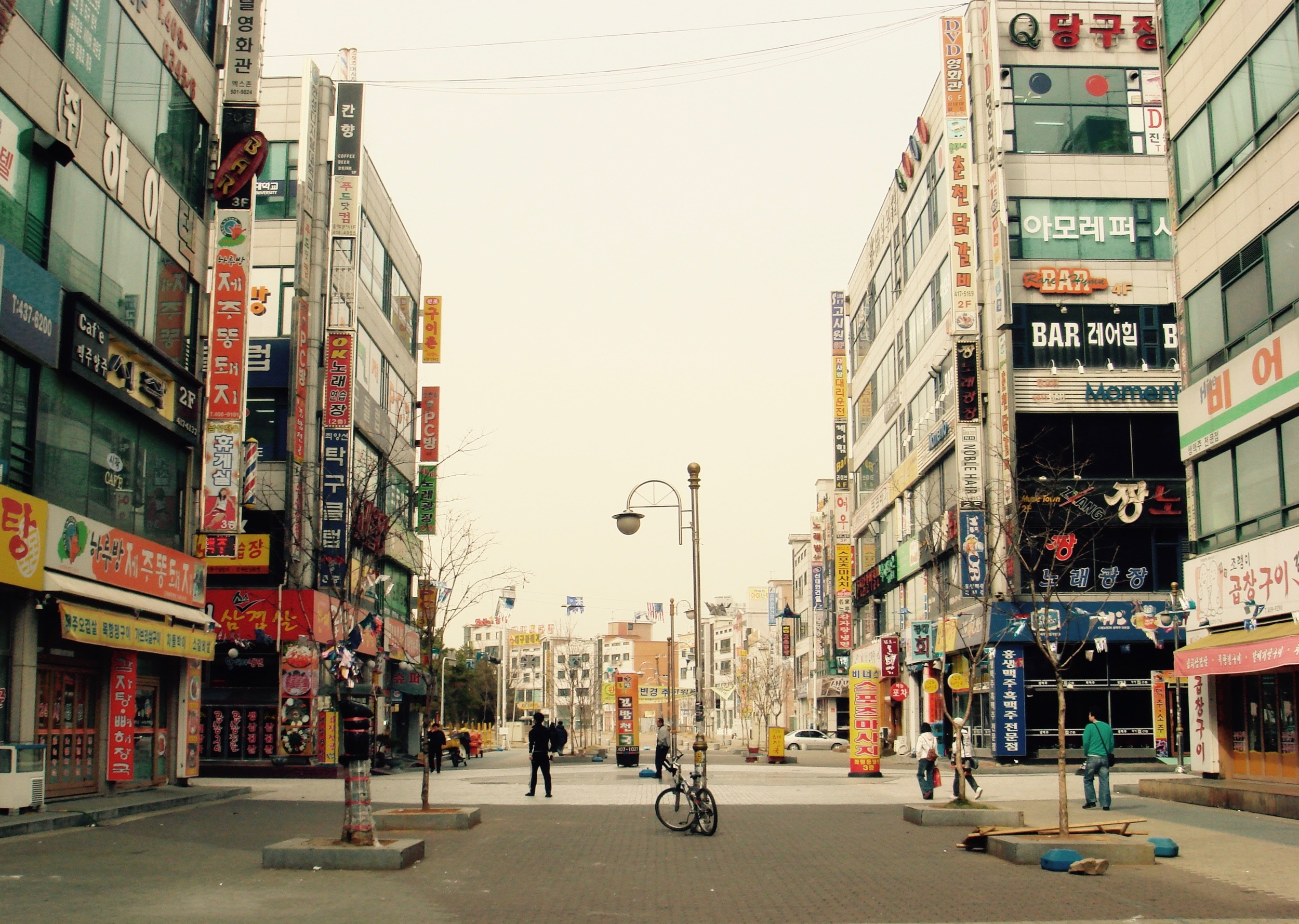 A main street in Ansan, South Korea where the English School that I taught at was located.