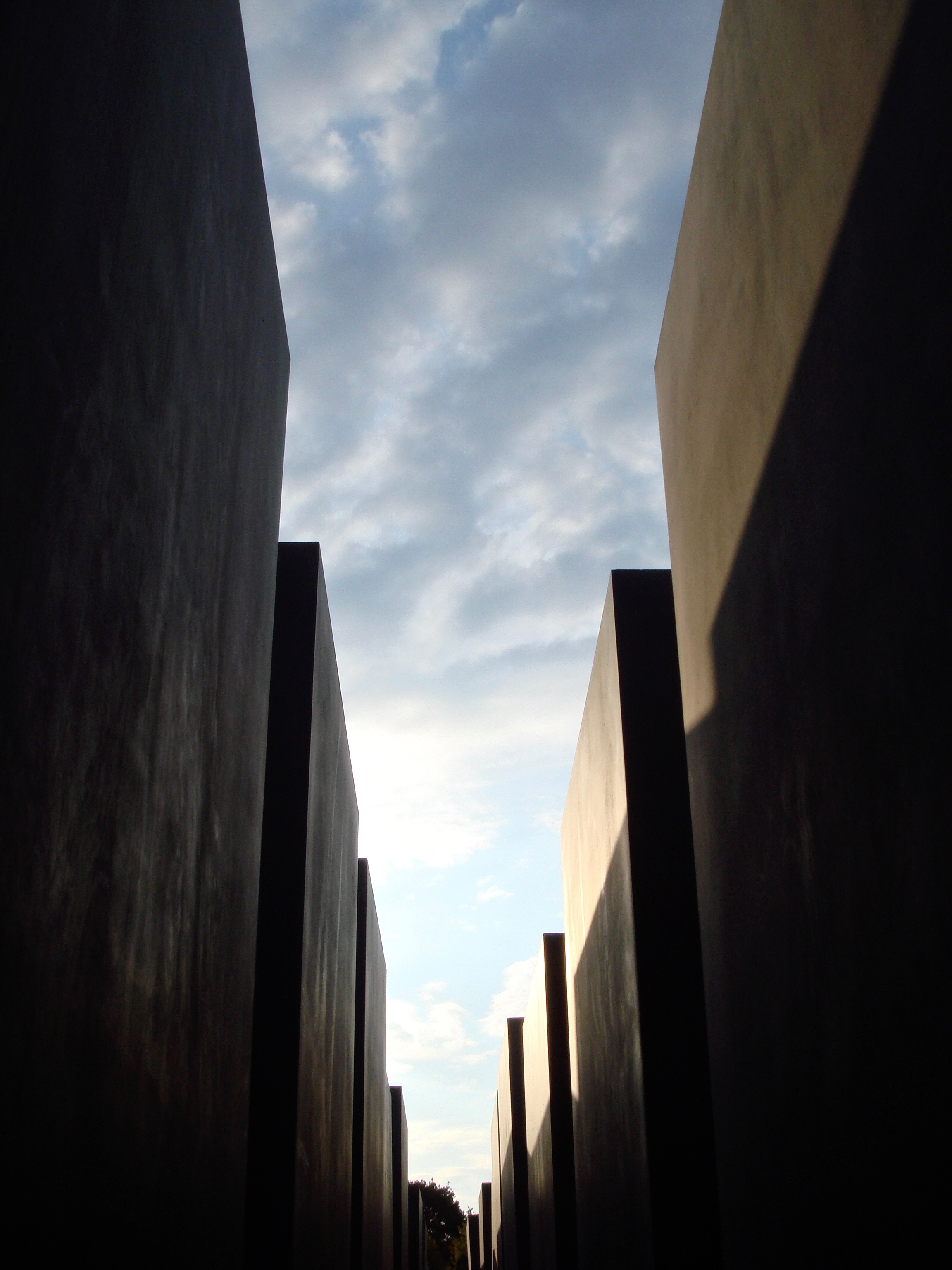 The  Memorial To The Murdered Jews of Europe  (The Holocaust Memorial) in Berlin is a disorienting field of concrete stelae