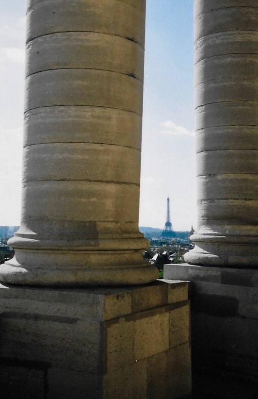 The view from the top of the Pantheon in Paris, France