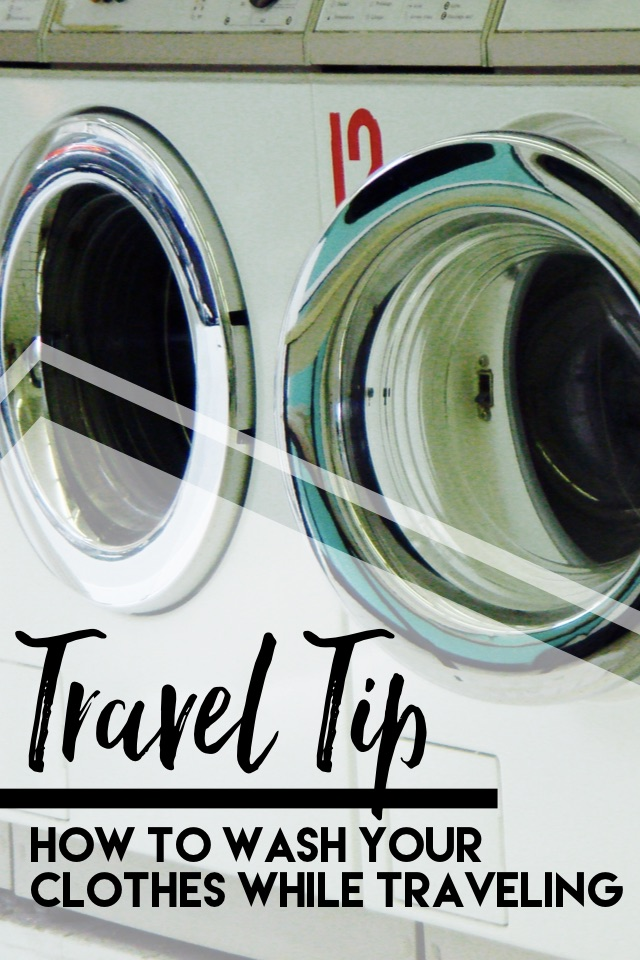 Washing Clothes While Travelling
