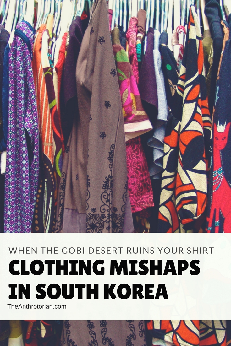 Clothing mishaps in South Korea