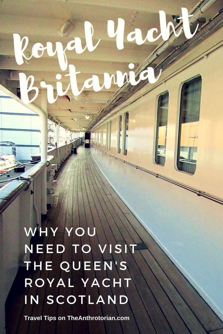 """The Queen's Royal Yacht """"Britannia"""" in Edinburgh, Scotland"""