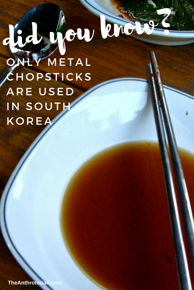 metal chopsticks in South Korea