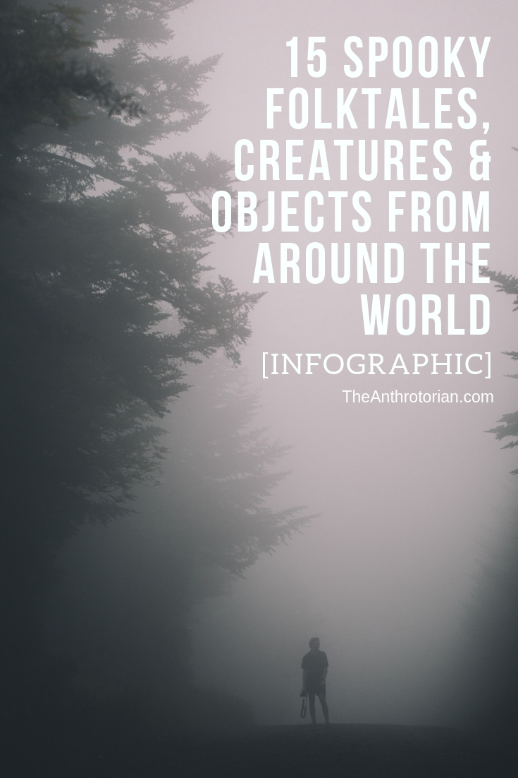 Spooky folktales, creatures and objects from around the world