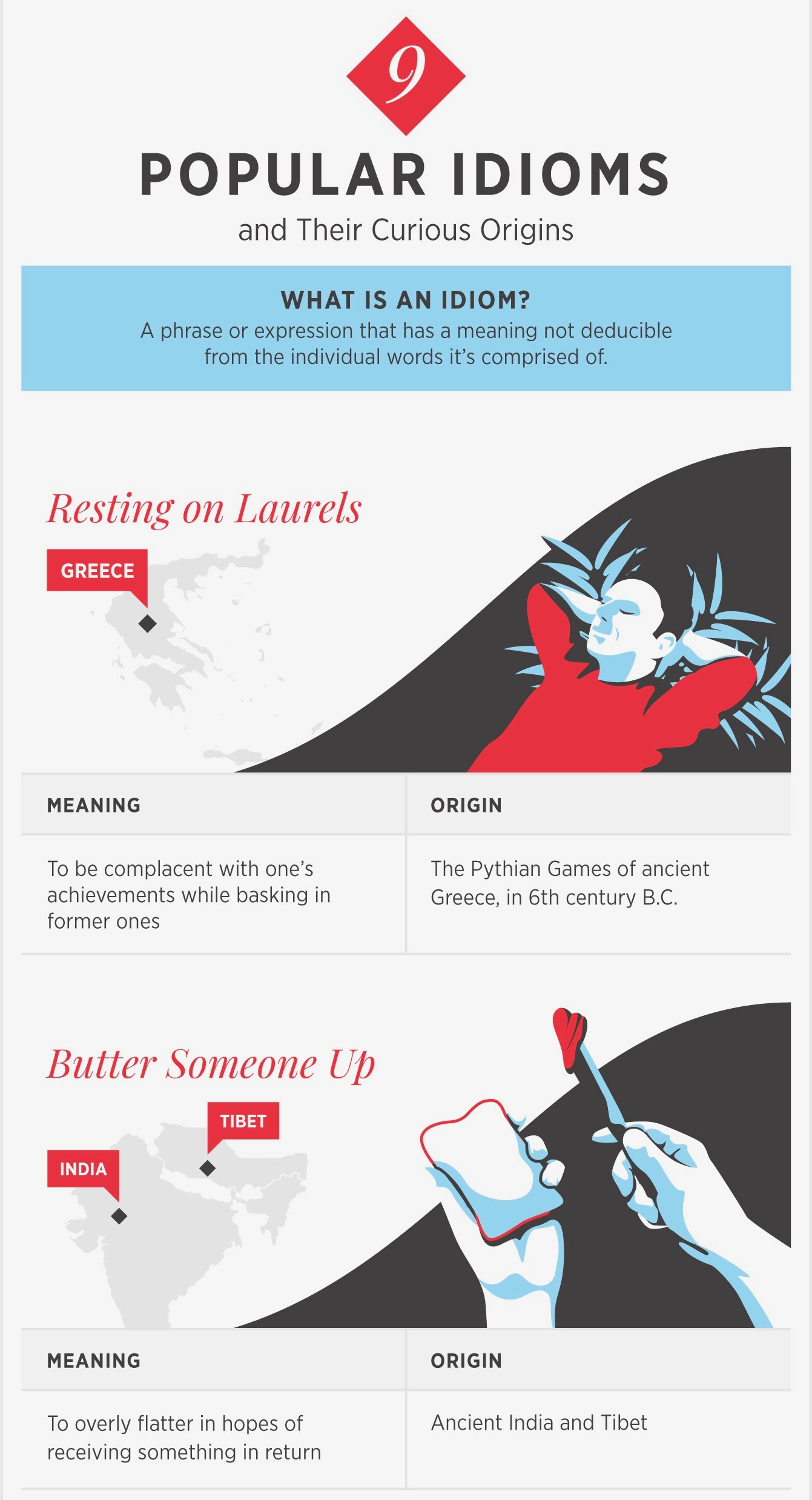 Popular idioms and their origins