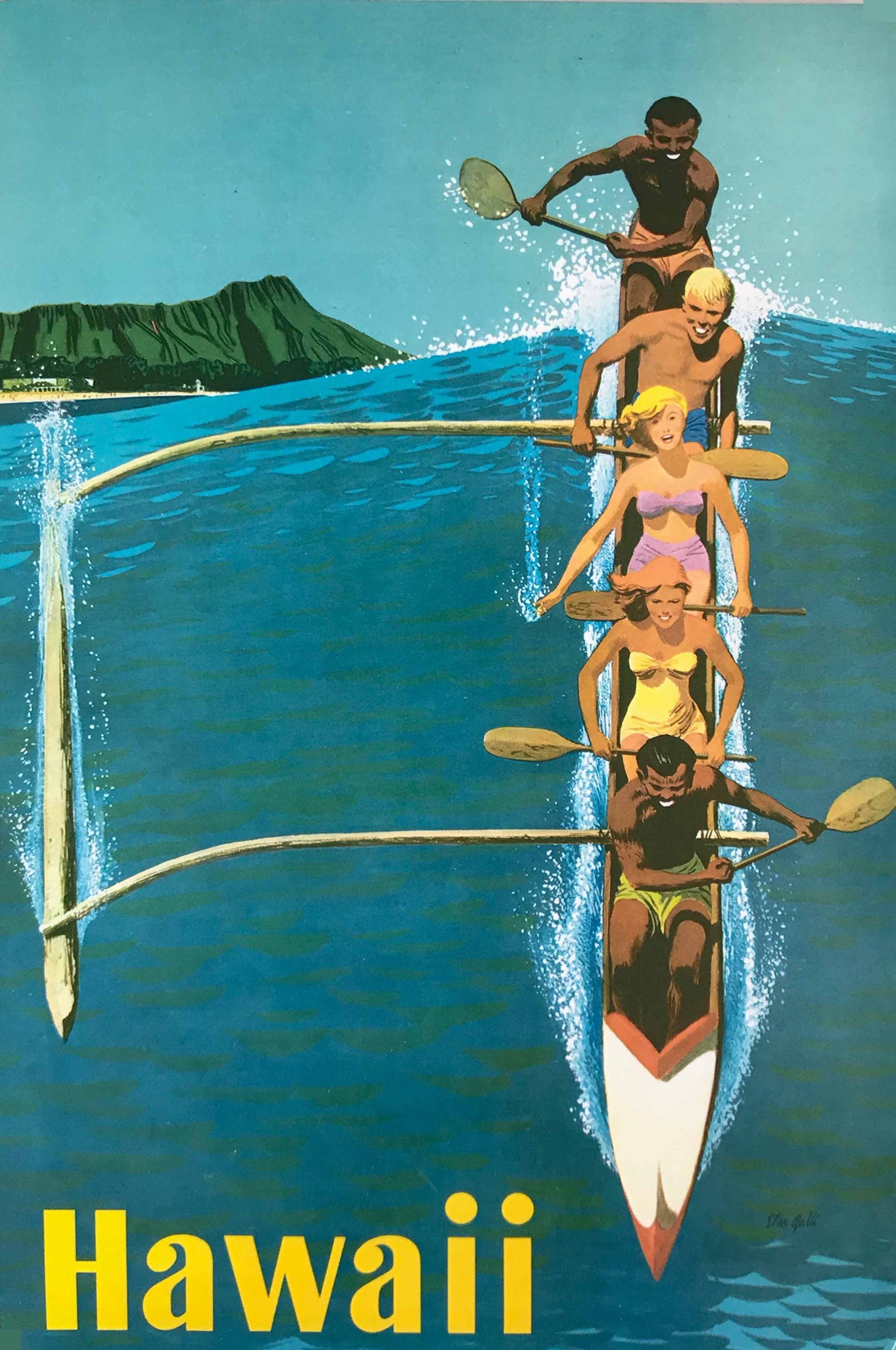Vintage Hawaii Travel Posters