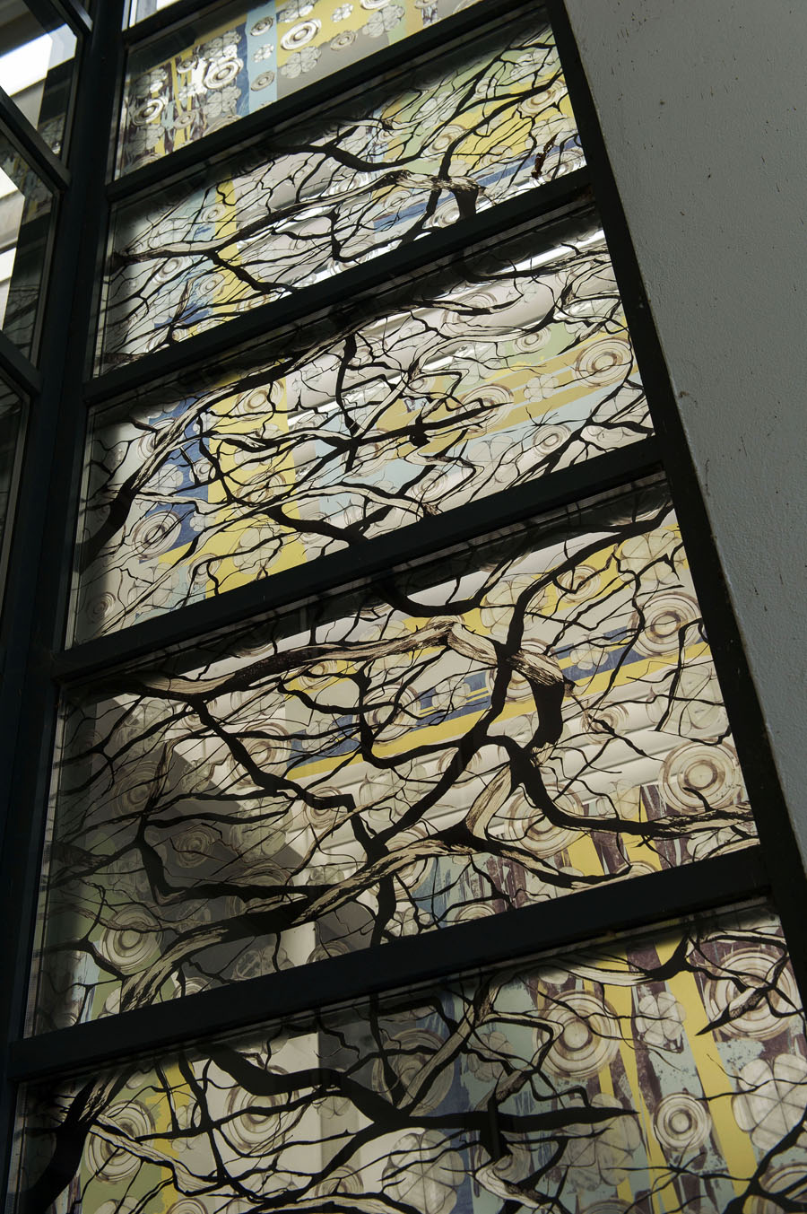 Detail of Perspex window installation