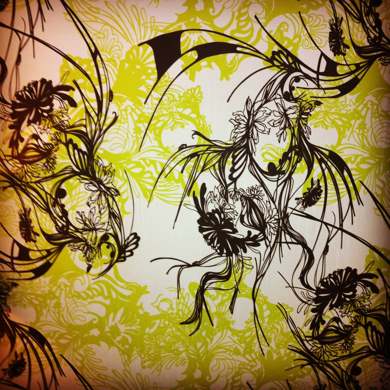Loving the wallpaper at The Green House, Bournemouth! Time to sketch and get ideas together...