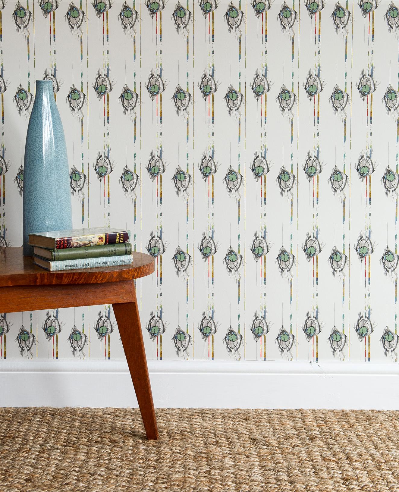 Undulating Feather luxury wallpaper
