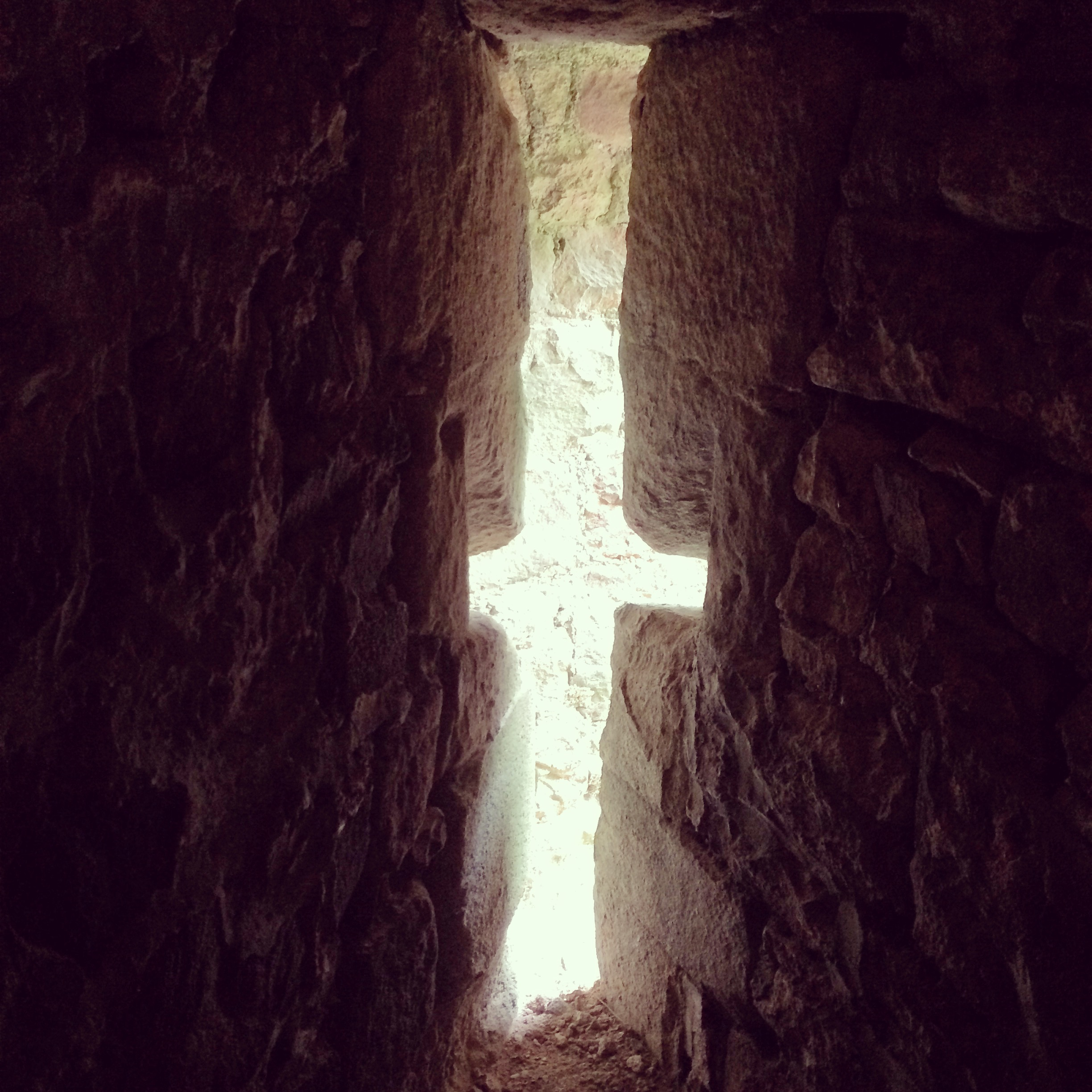 Going through photographs I've taken,and found one from a visit to Dunster Castle, Somerset, October 2014. Drawn to the shaft of light permeating through the window. #light #hope #cross