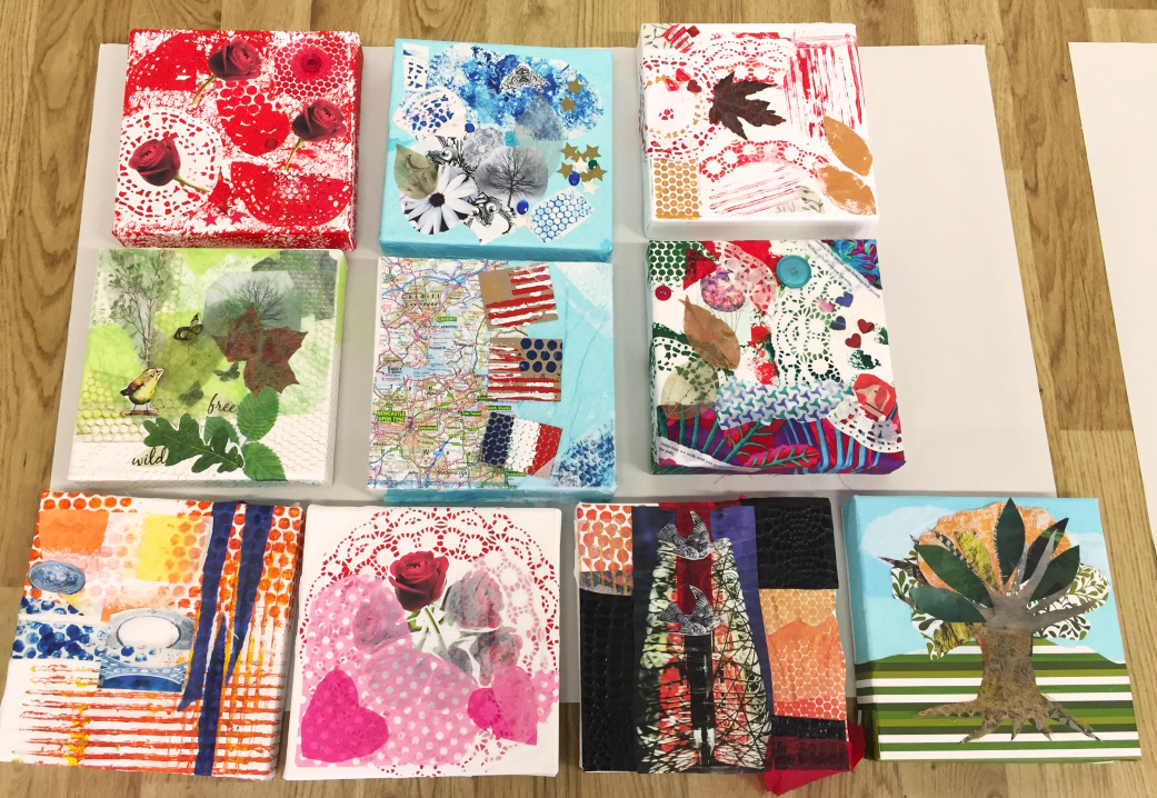 Finished Collages.