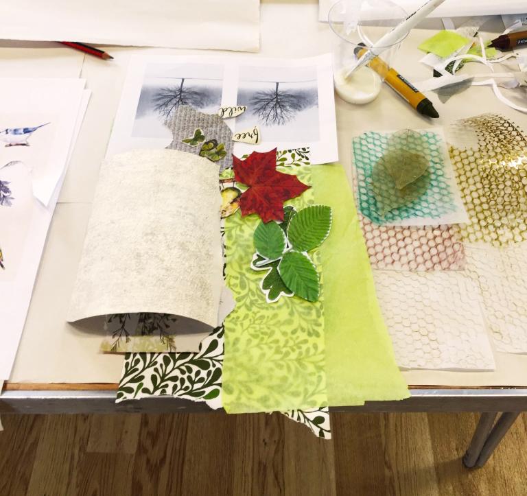 Assembling shapes, colours, form.