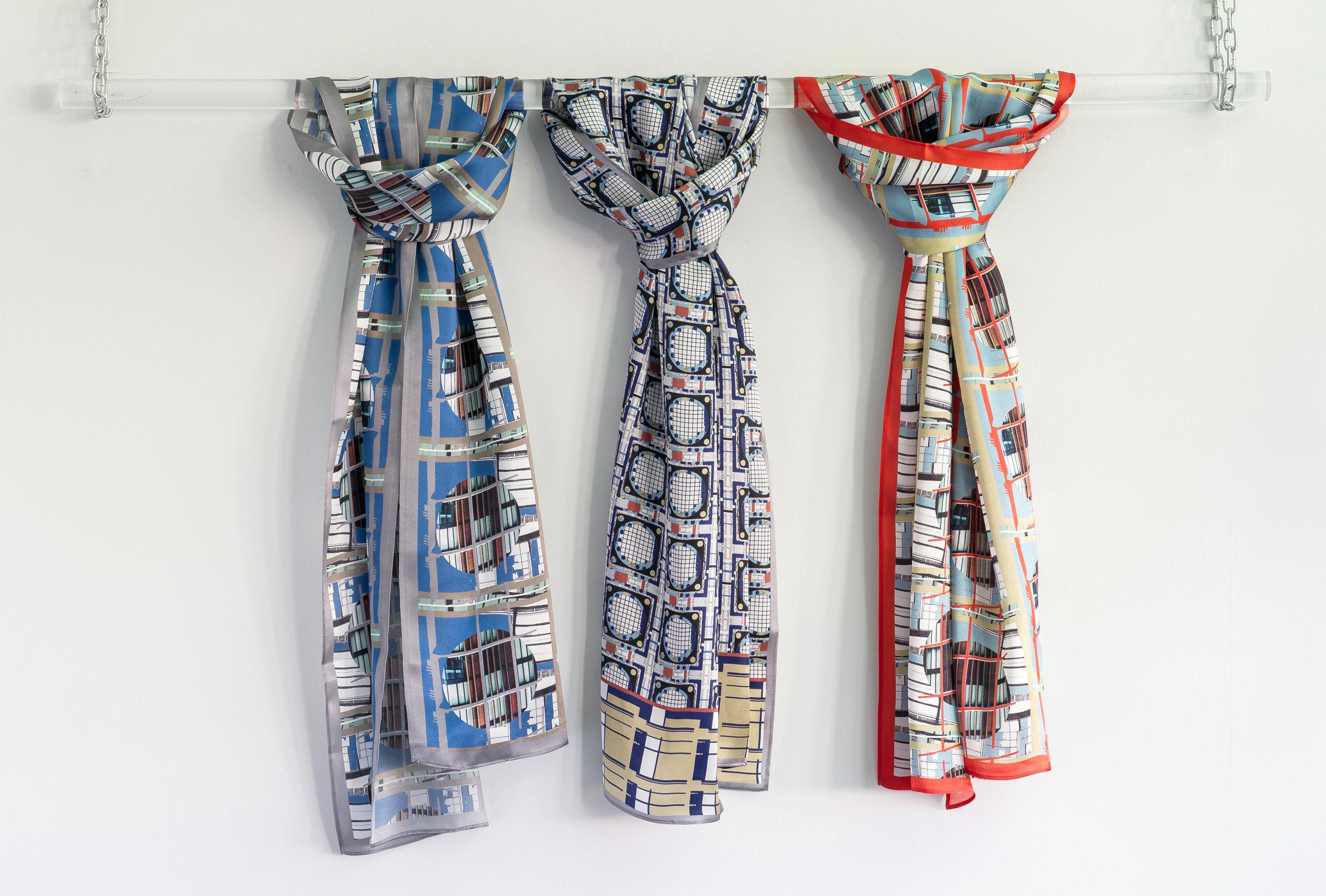 Geometric Silk Scarves