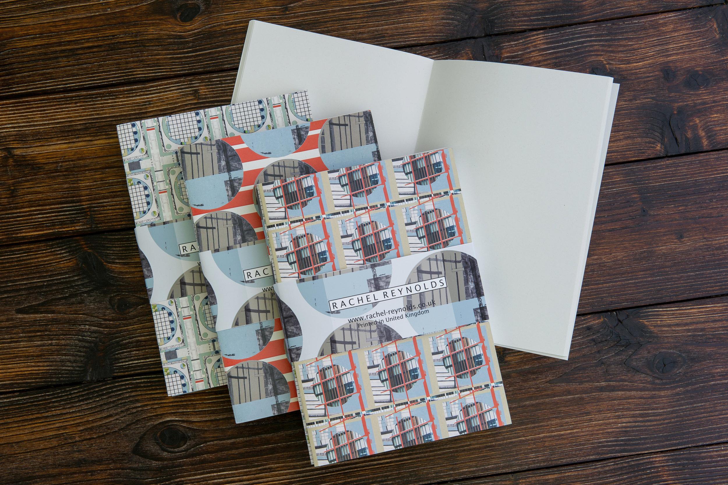 Geometric A5 Notebooks