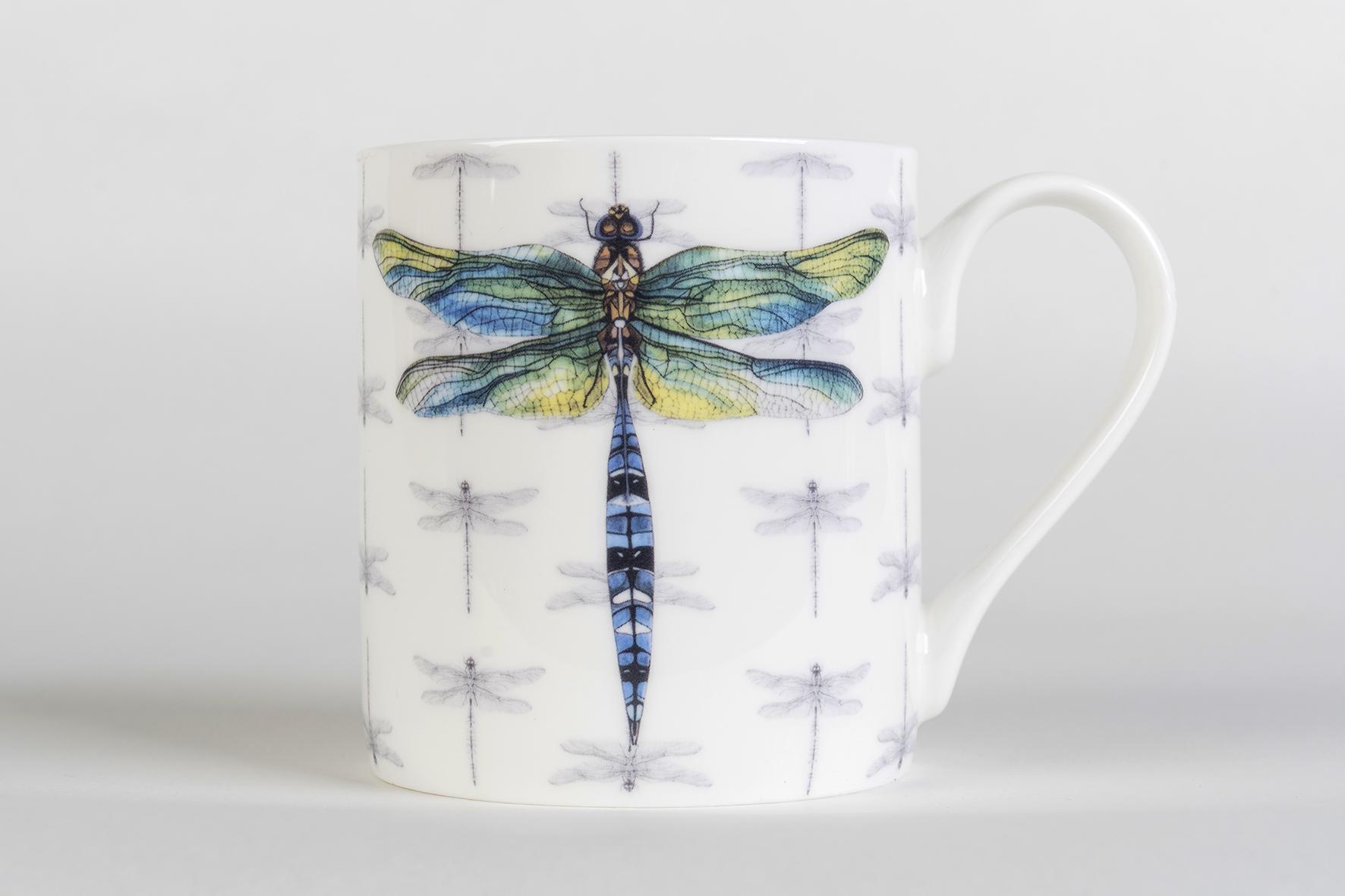 Dragonfly Bone China Mug