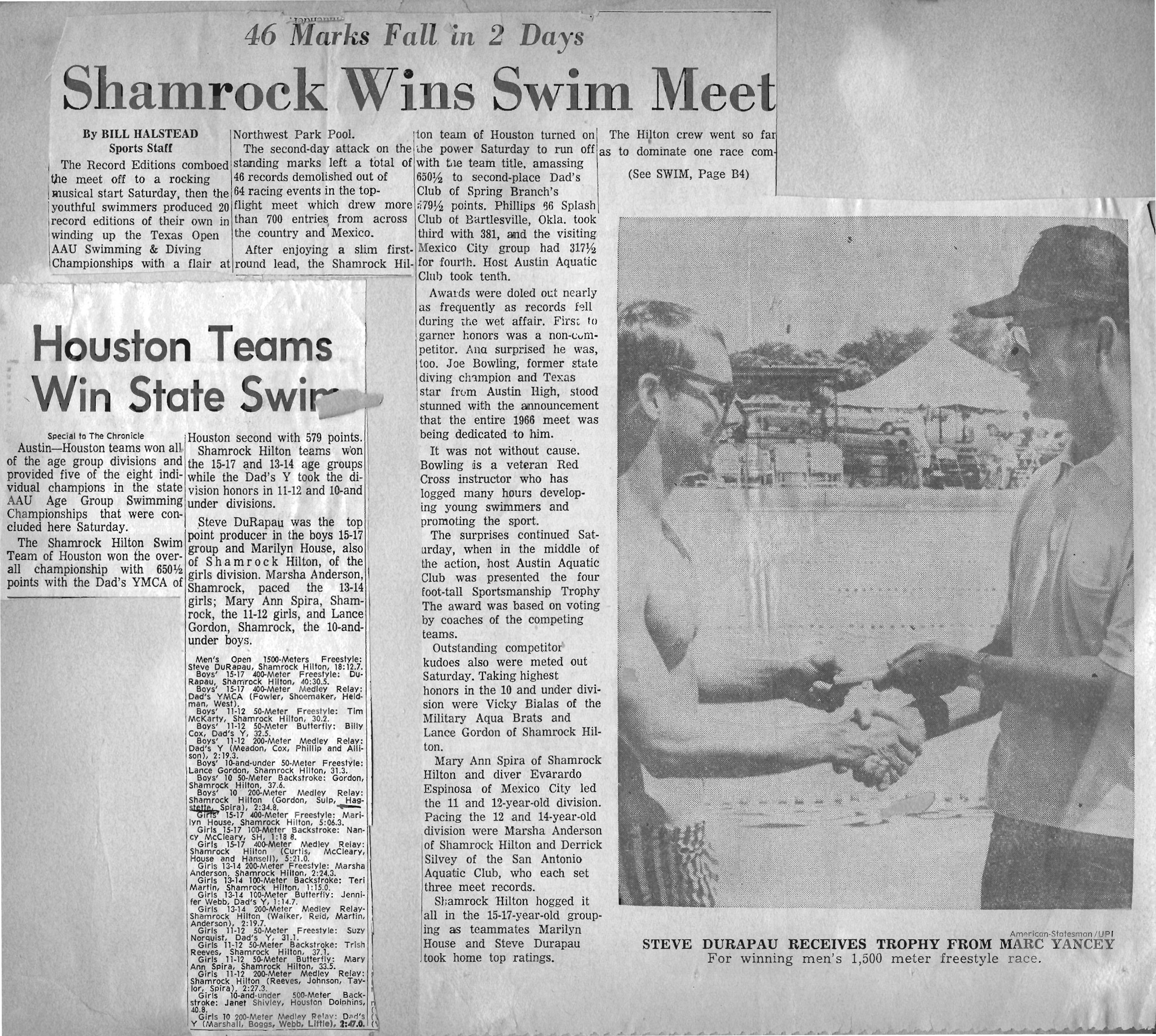 Shamrock Swim Club — Texas Swimming & Diving Hall of Fame