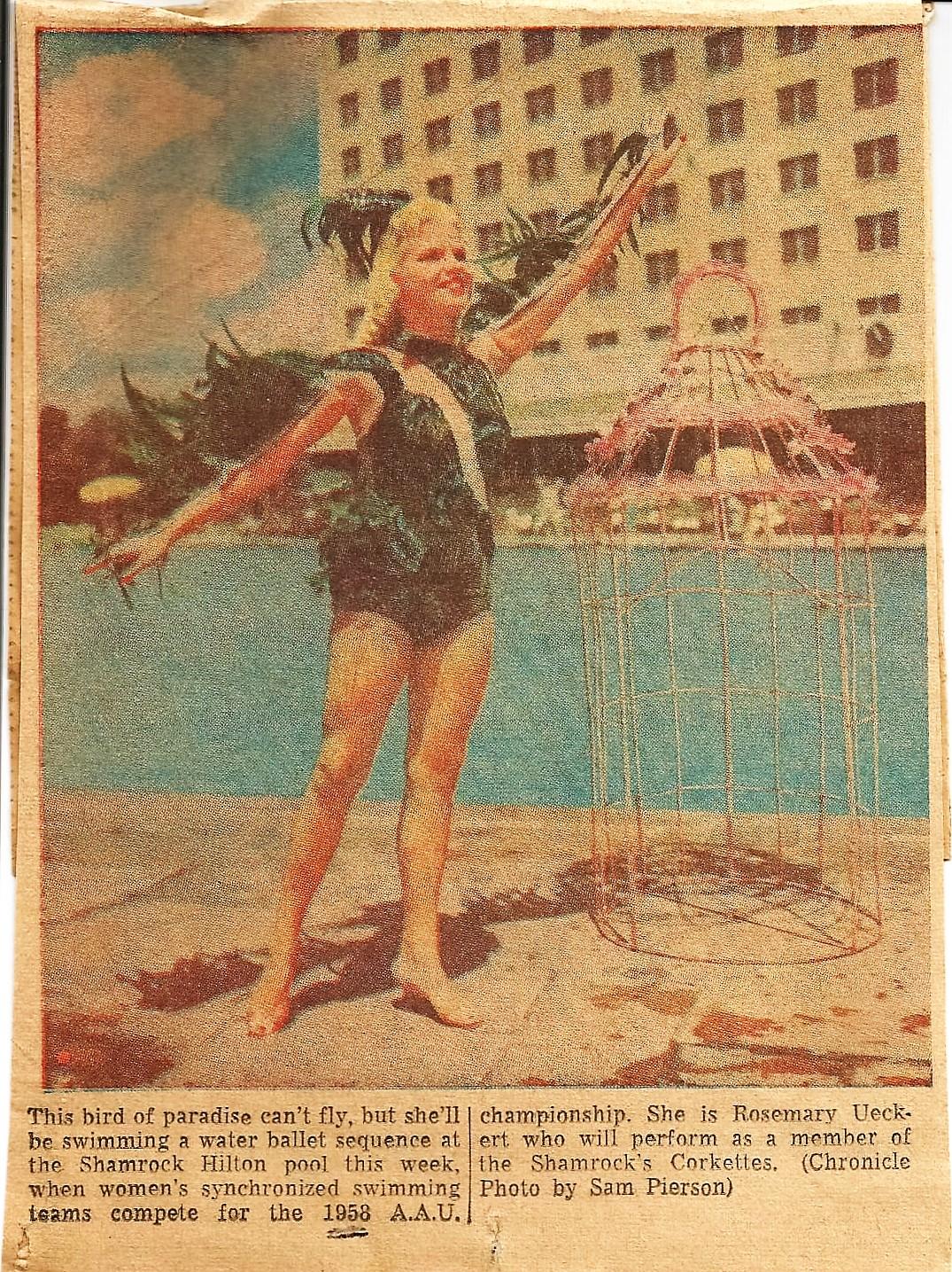 Rosemary Ueckert, Corkette 1955.jpg