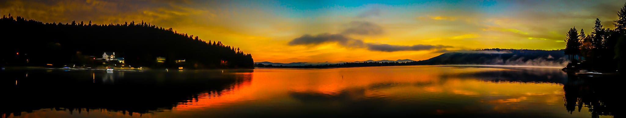 iPhone Panorama, Dreamwood Bay, Liberty Lake, Washington